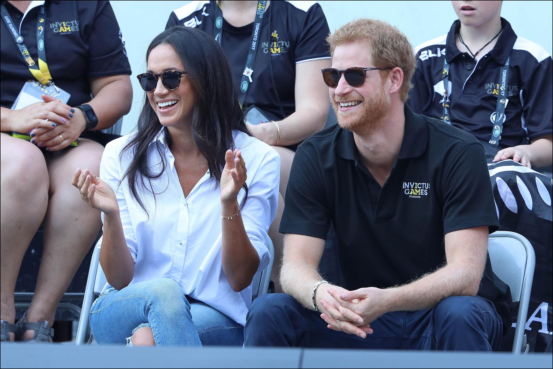 La primera foto que confirmaba la relación entre Meghan Markle y el príncipe Harry, un 25 de septiembre de 2017 en Toronto durante un partido de los Invictus Games.