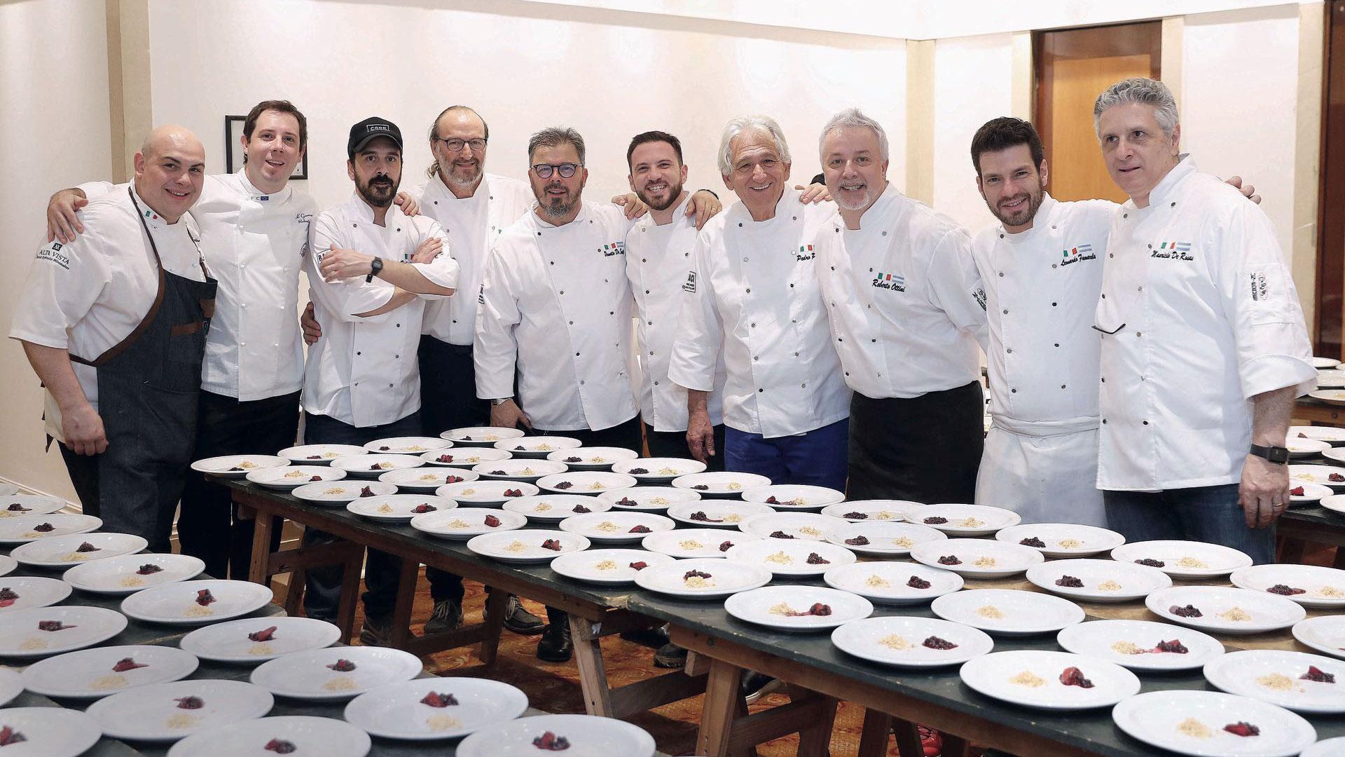 Las fotos de la gala organizada por Donato di Santis y los chefs italianos  más reconocidos - Infobae