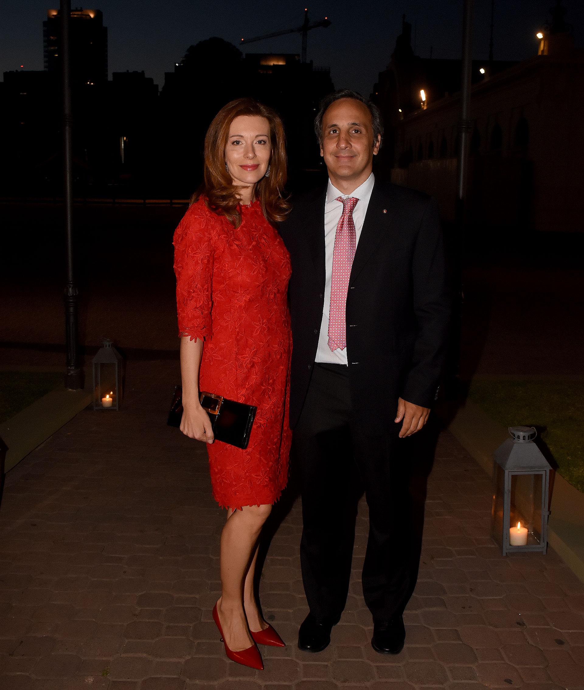 Marcos Bulgheroni y su mujer Nunzia