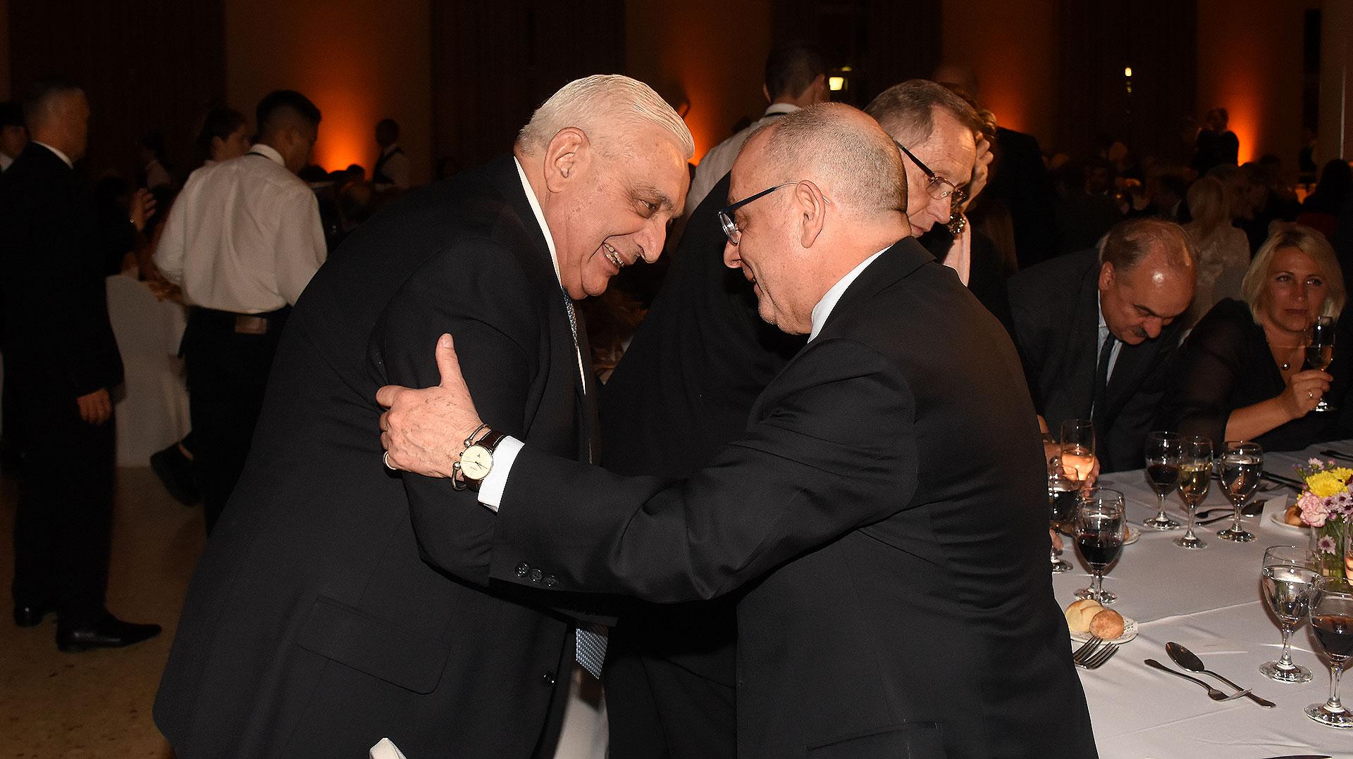 Adelmo Gabbi y Jorge Faurie