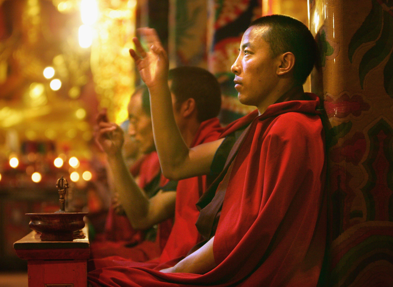 Un monje tibetano en el monasterio Jal Gu Si Wu Min Fo Xue Yuan (Paula Bronstein/Getty Images)