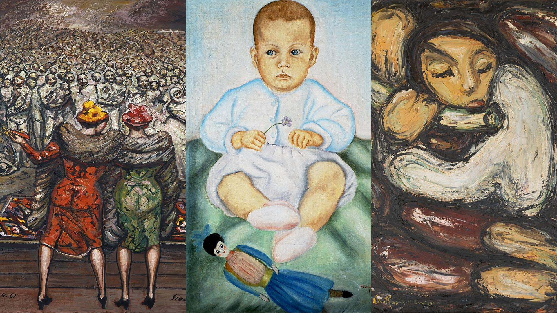 La exposición muestra grandes obras de maestros de distintas épocas, desde el norte de América, México, transitando por Colombia y llegando al sur, a la Argentina