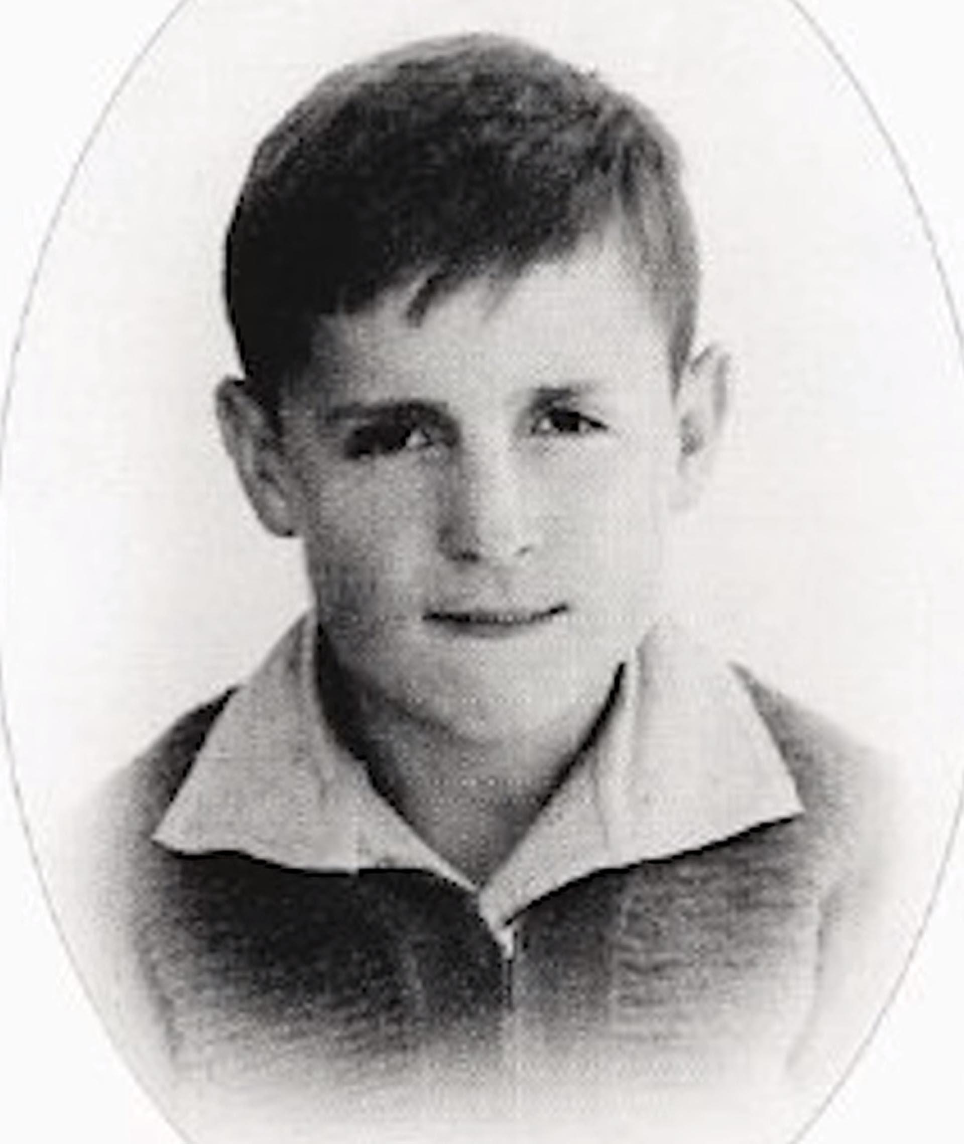 Roberto Gómez Bolaños cuando era joven