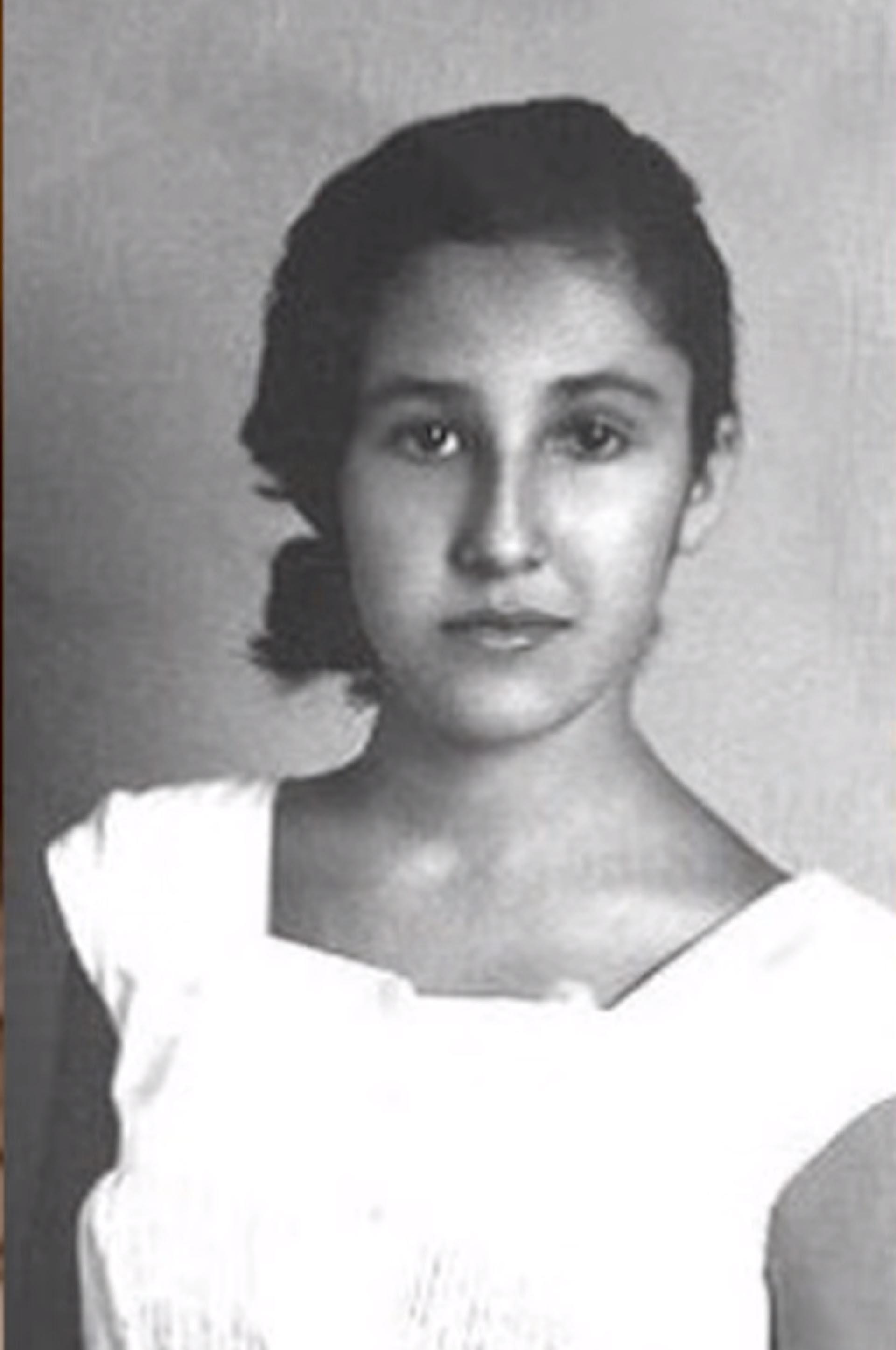 Florinda Meza en su adolescencia