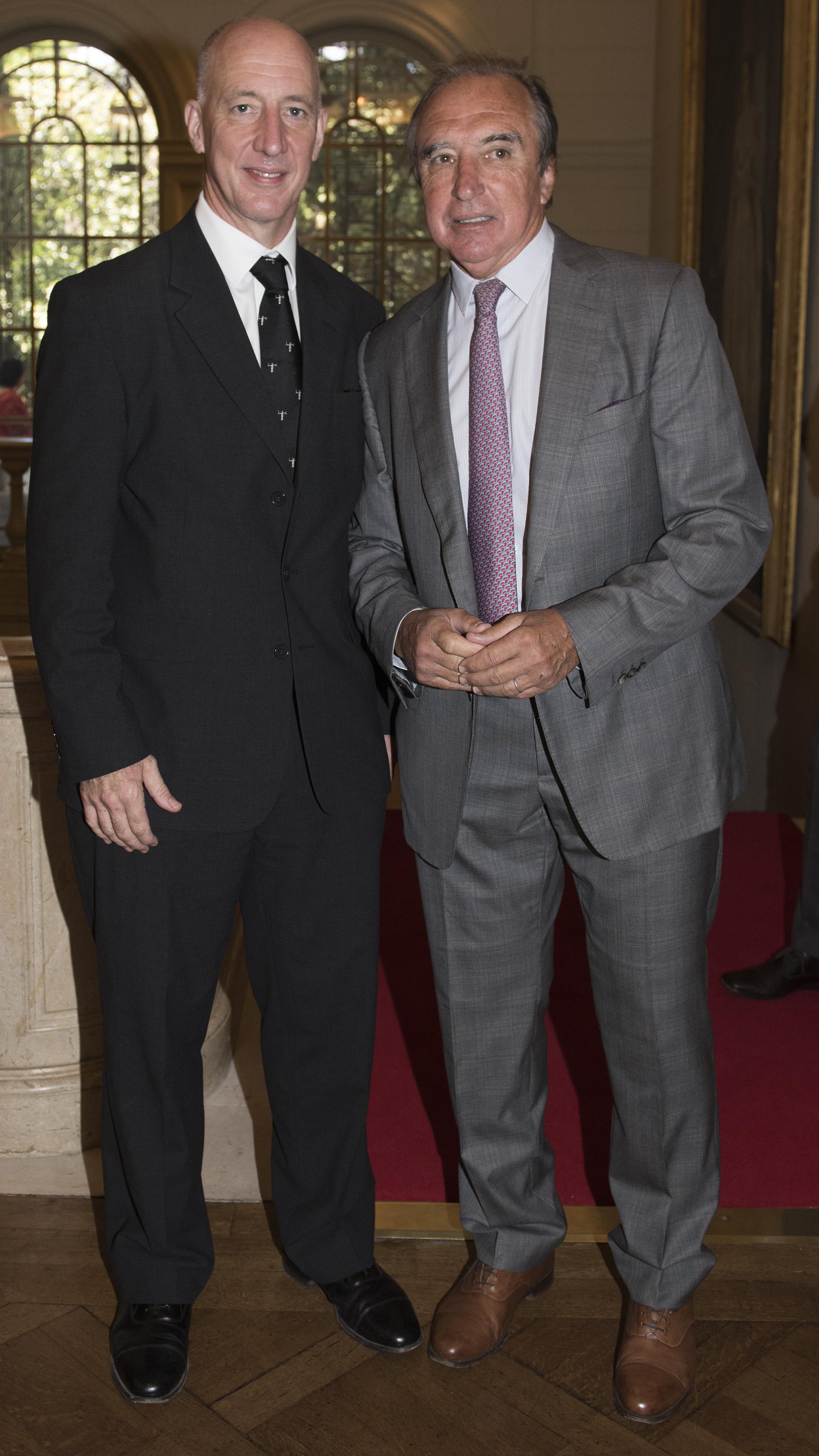 Mark Kent y Hugo Porta, histórico jugador de Los Pumas