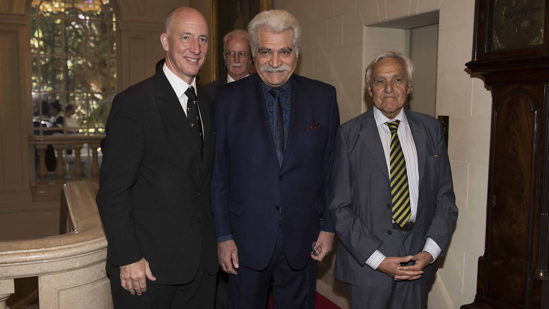 Mark Kent, Jorge Asís y Rosendo Fraga