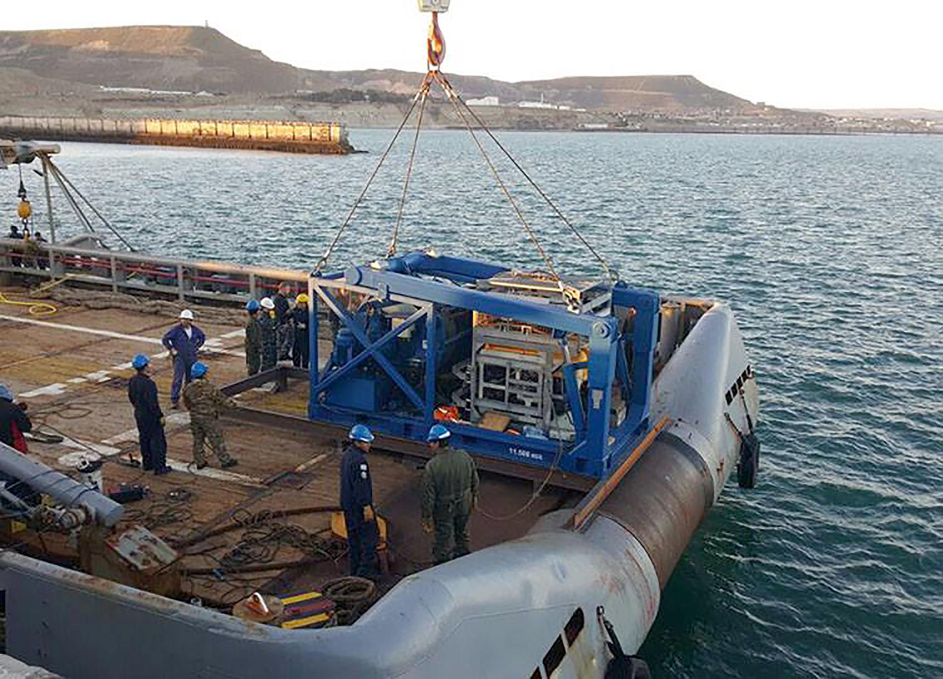 El mini submarino Pantera Plus que participó de la búsqueda del ARA San Juan