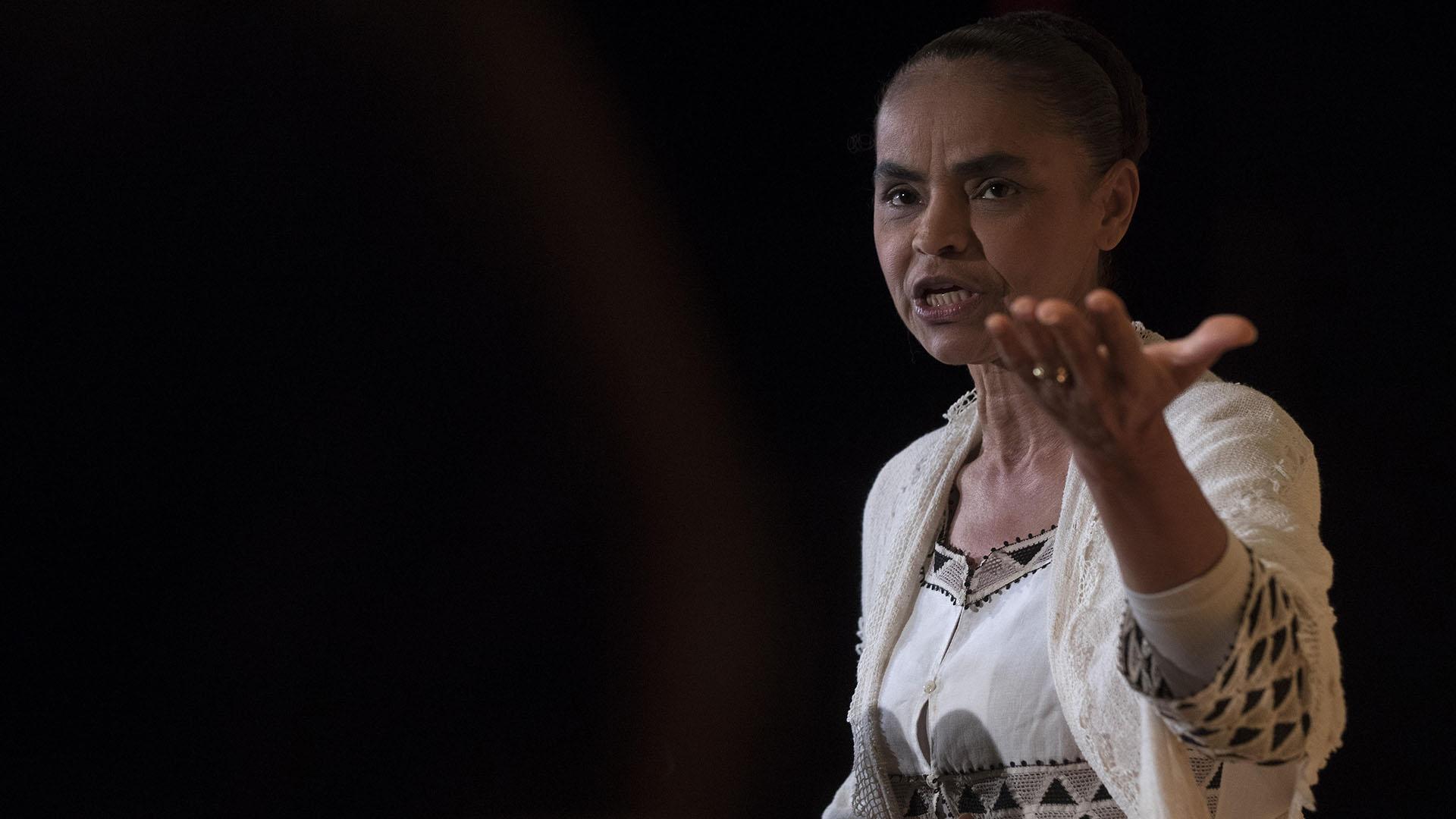 Marina Silva anunció su precandidatura presidencial (EFE)