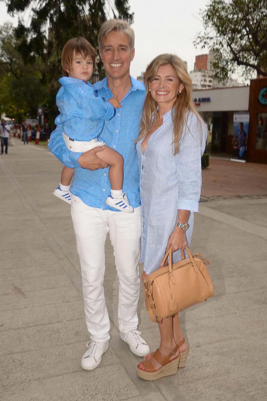 Marcelo Figueiras, su mujer María Laura Leguizamón y su hijo Alfonso