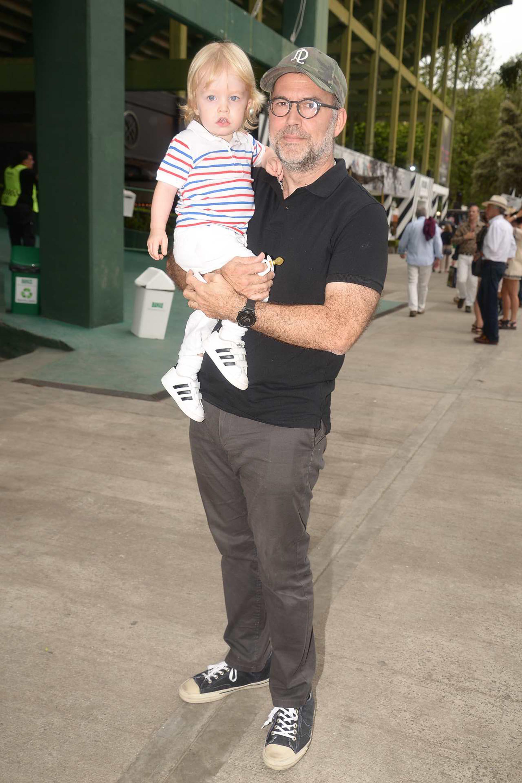 Augusto Rodríguez Larreta y su hijo Mateo