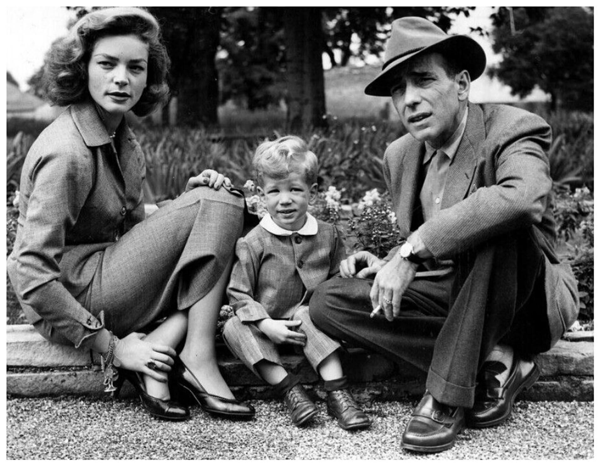 Bacall, Stephen -el primer hijo del matrimonio- y Bogart