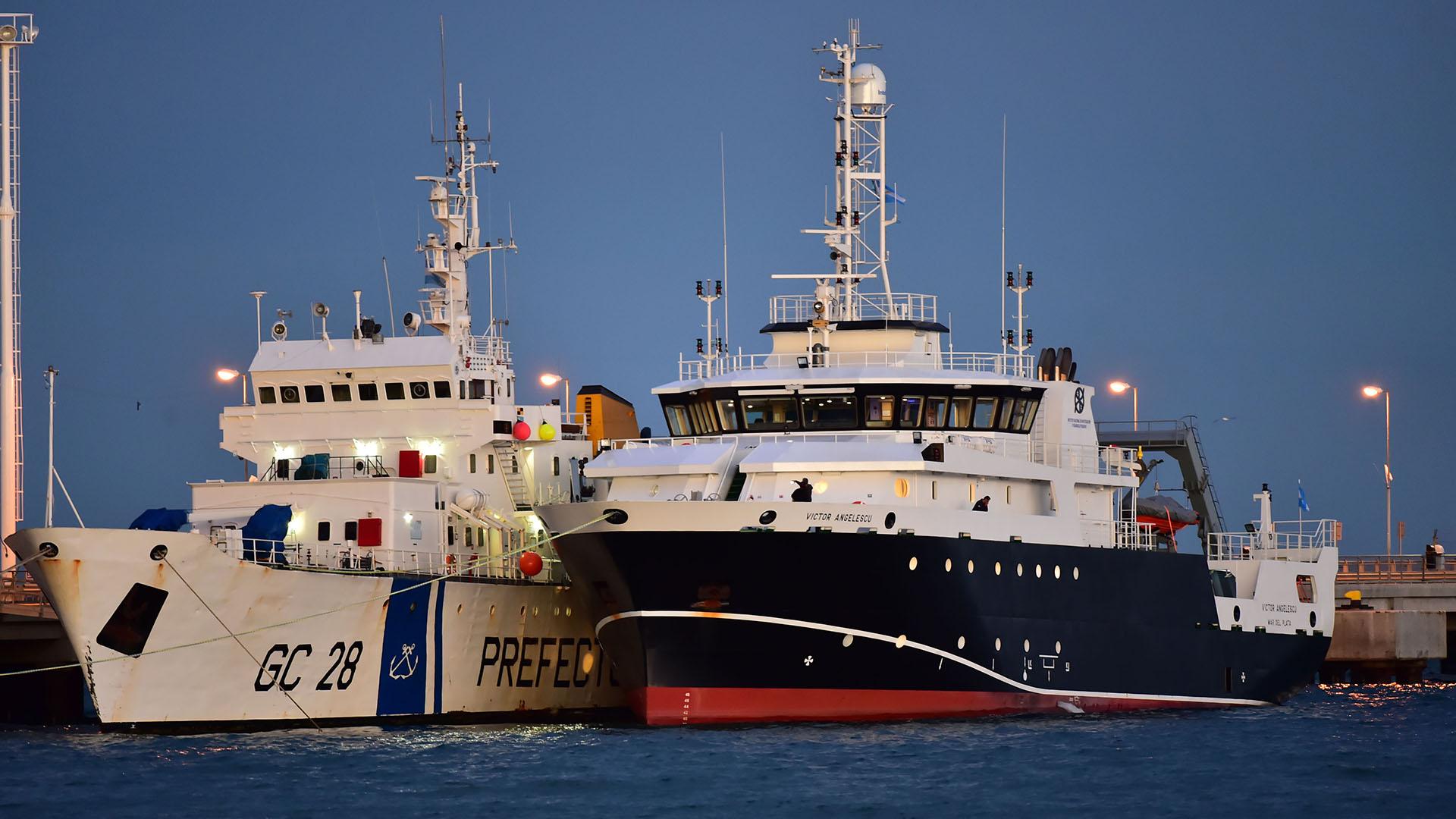 En diciembre, el buque científico Víctor Angelescu participó de la búsqueda del ARA San Juan (Télam)