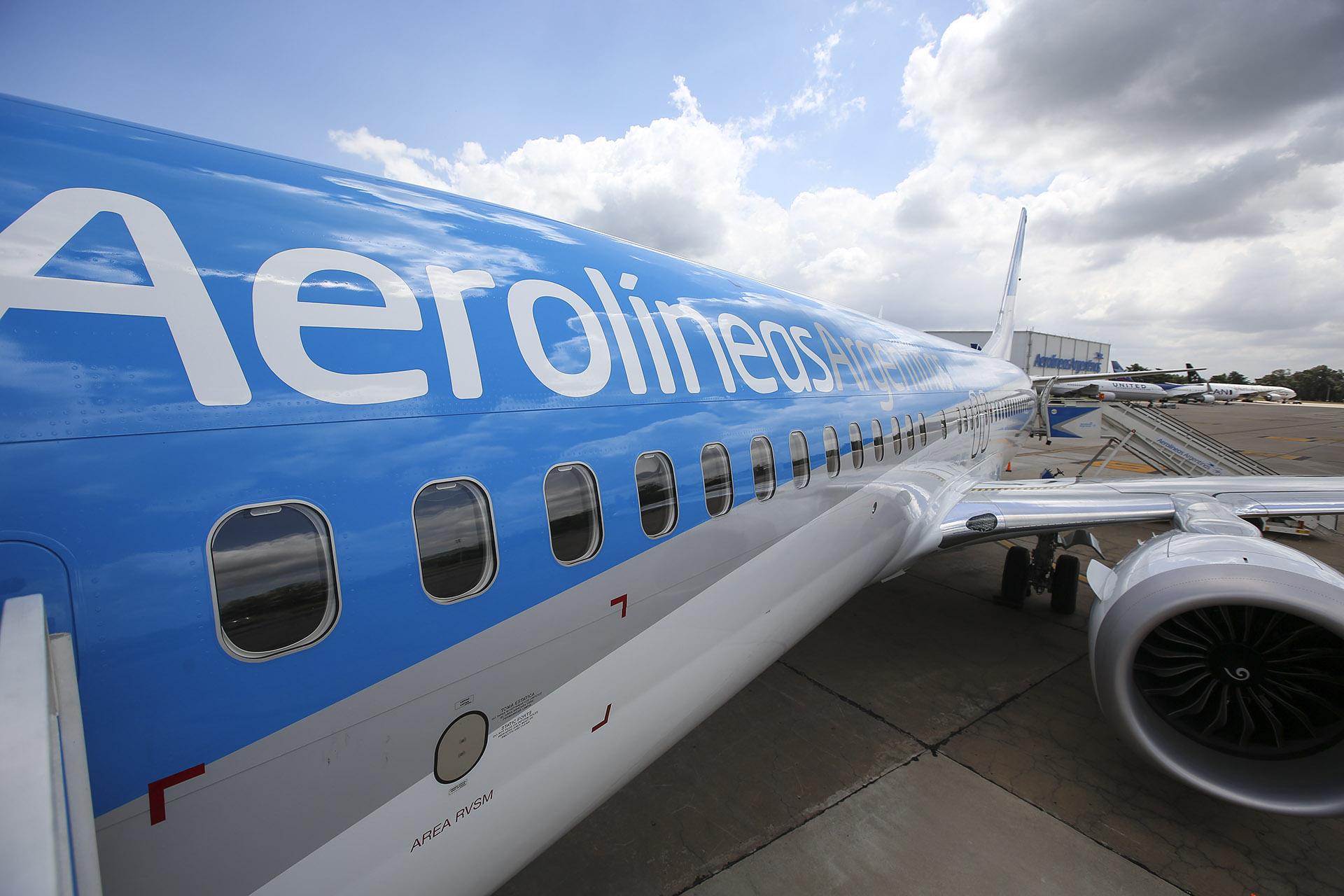 Aerolíneas Argentinas cuenta con cinco unidades del Boeing 737 Max 8 en su flota (Agustín Marcarian)