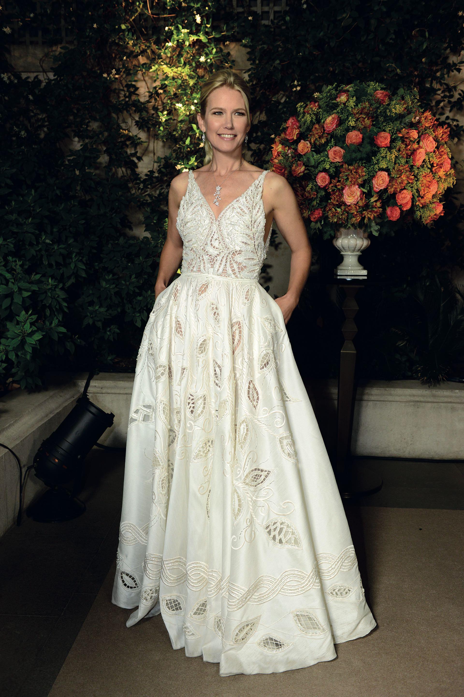 Valeria Mazza optó por un vestido de Javier Saiach.