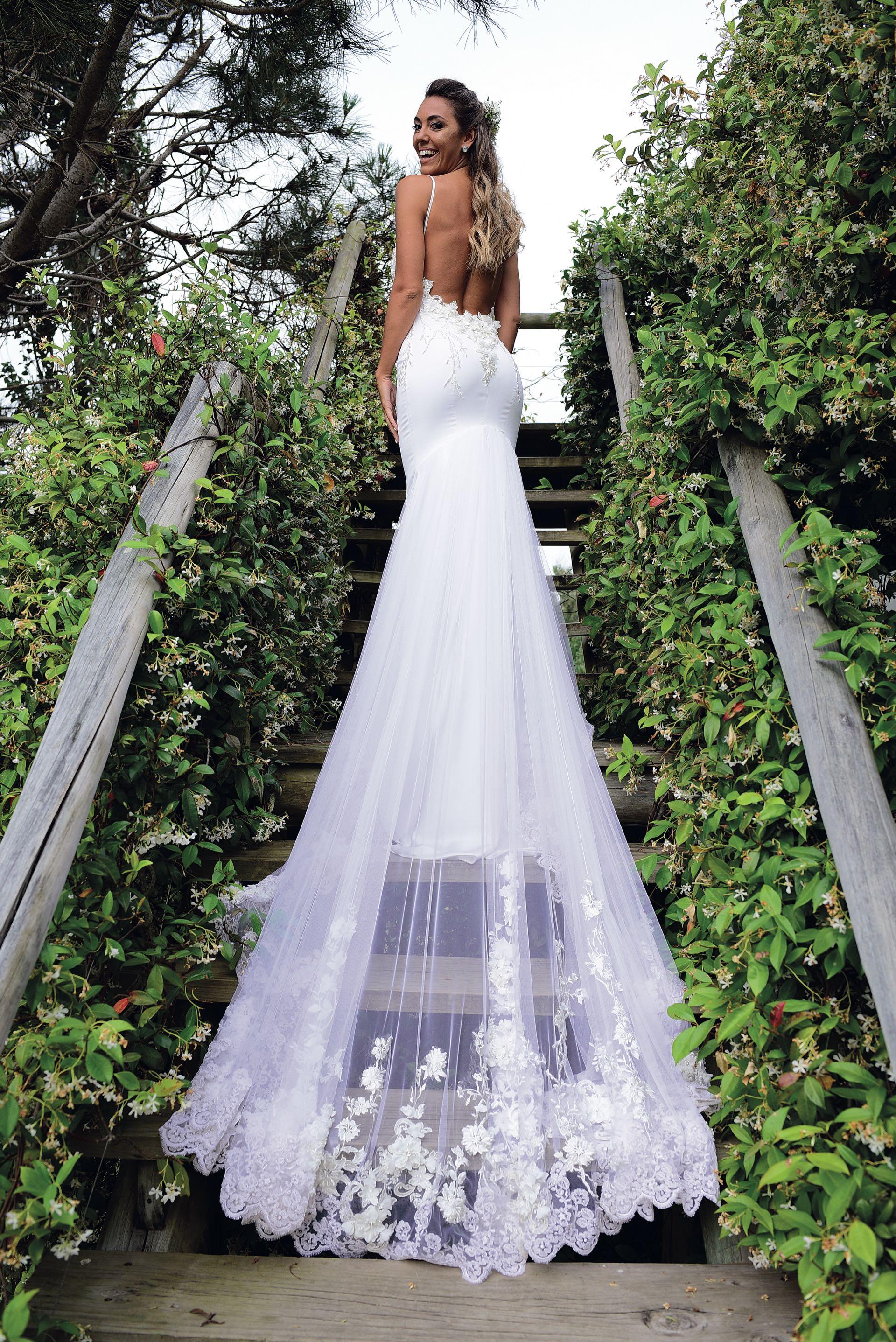 El vestido fue de Claudia Arce