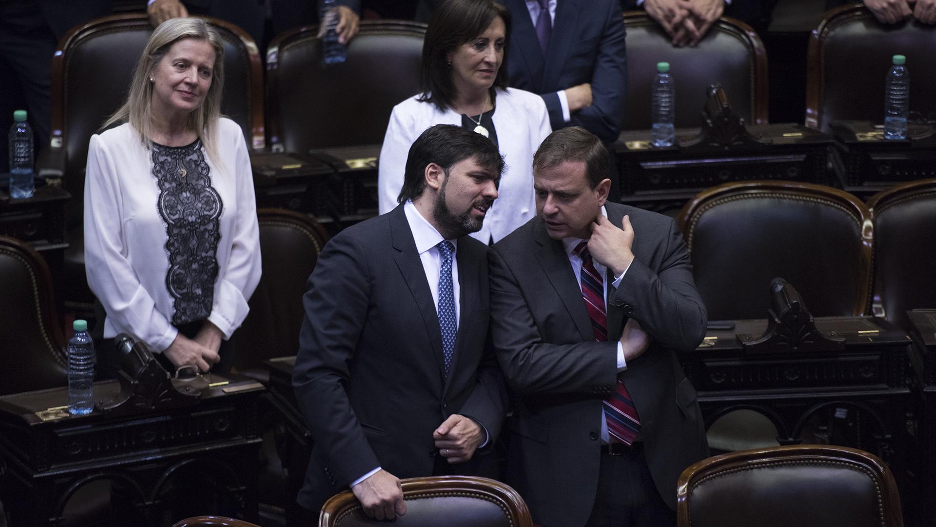 El diputado Diego Bossio y el senador electo Guillermo Snopek