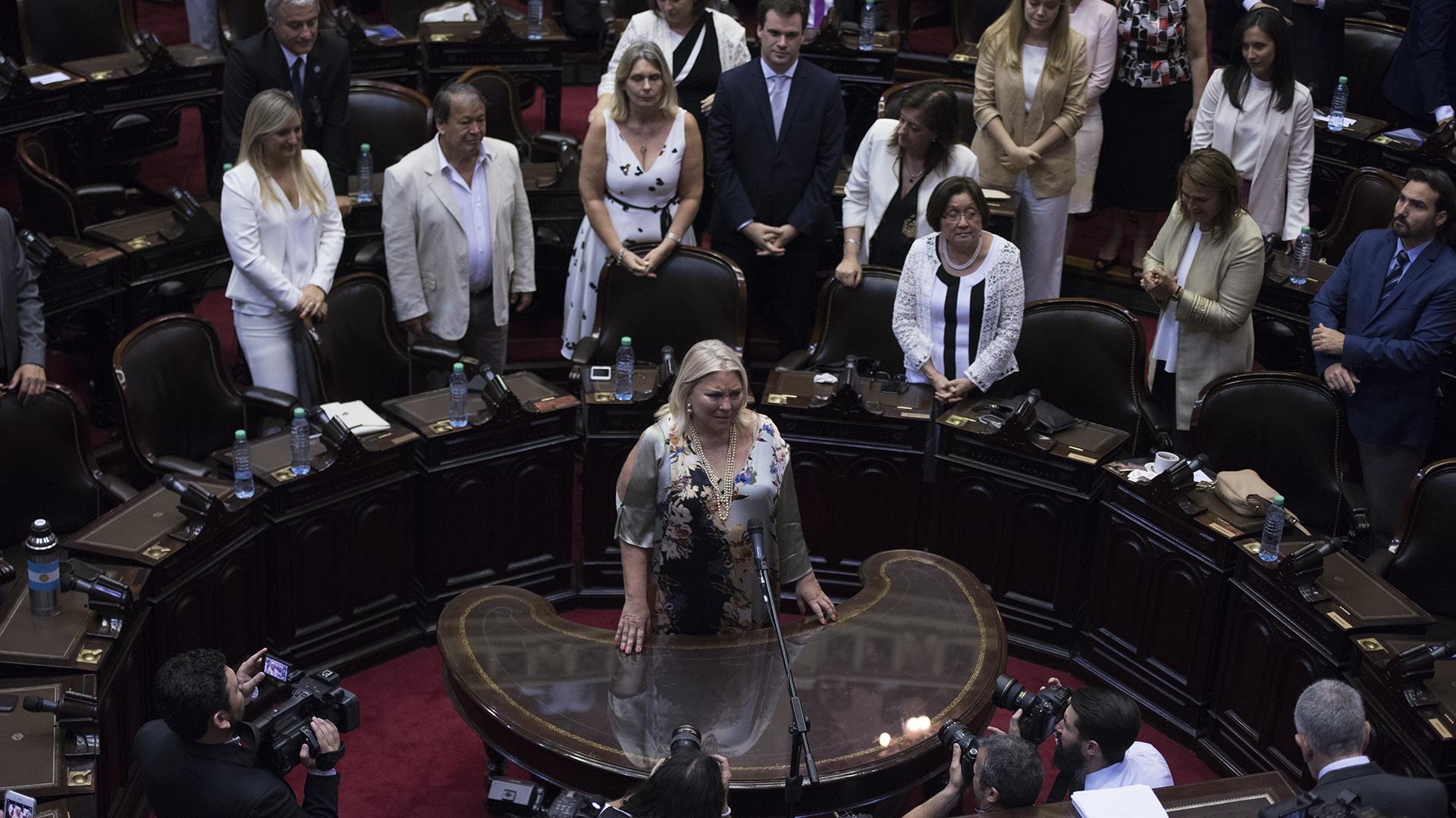 La legisladora del oficialismo Elisa Carrió