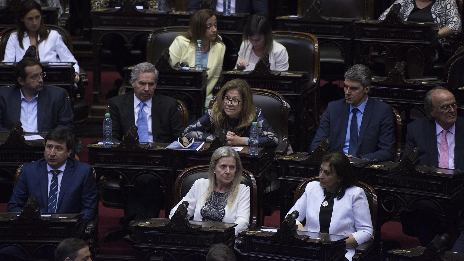 Los legisladores del bloque Federal Unidos por una Nueva Argentina