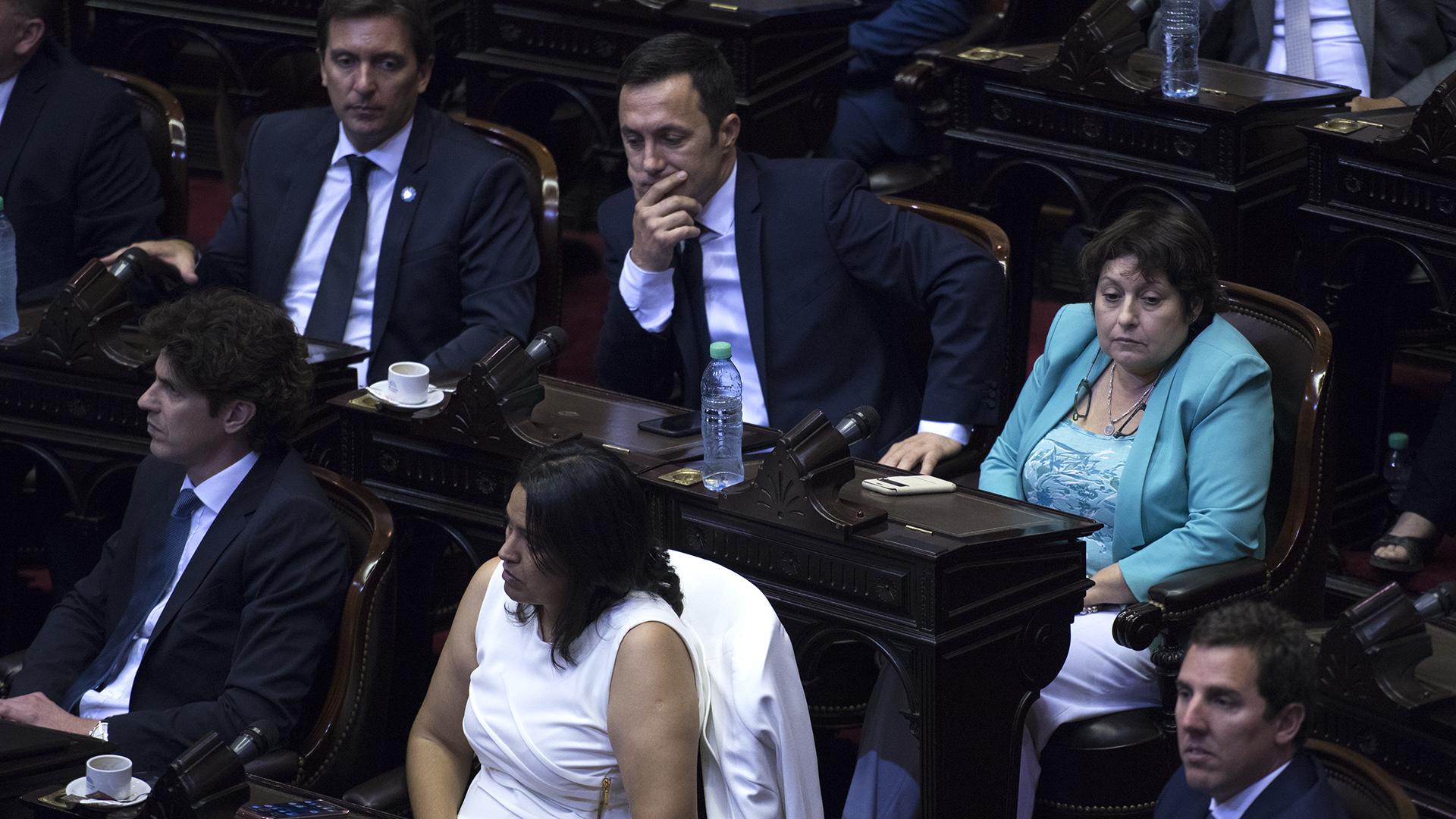 Los legisladores del interbloque Cambiemos