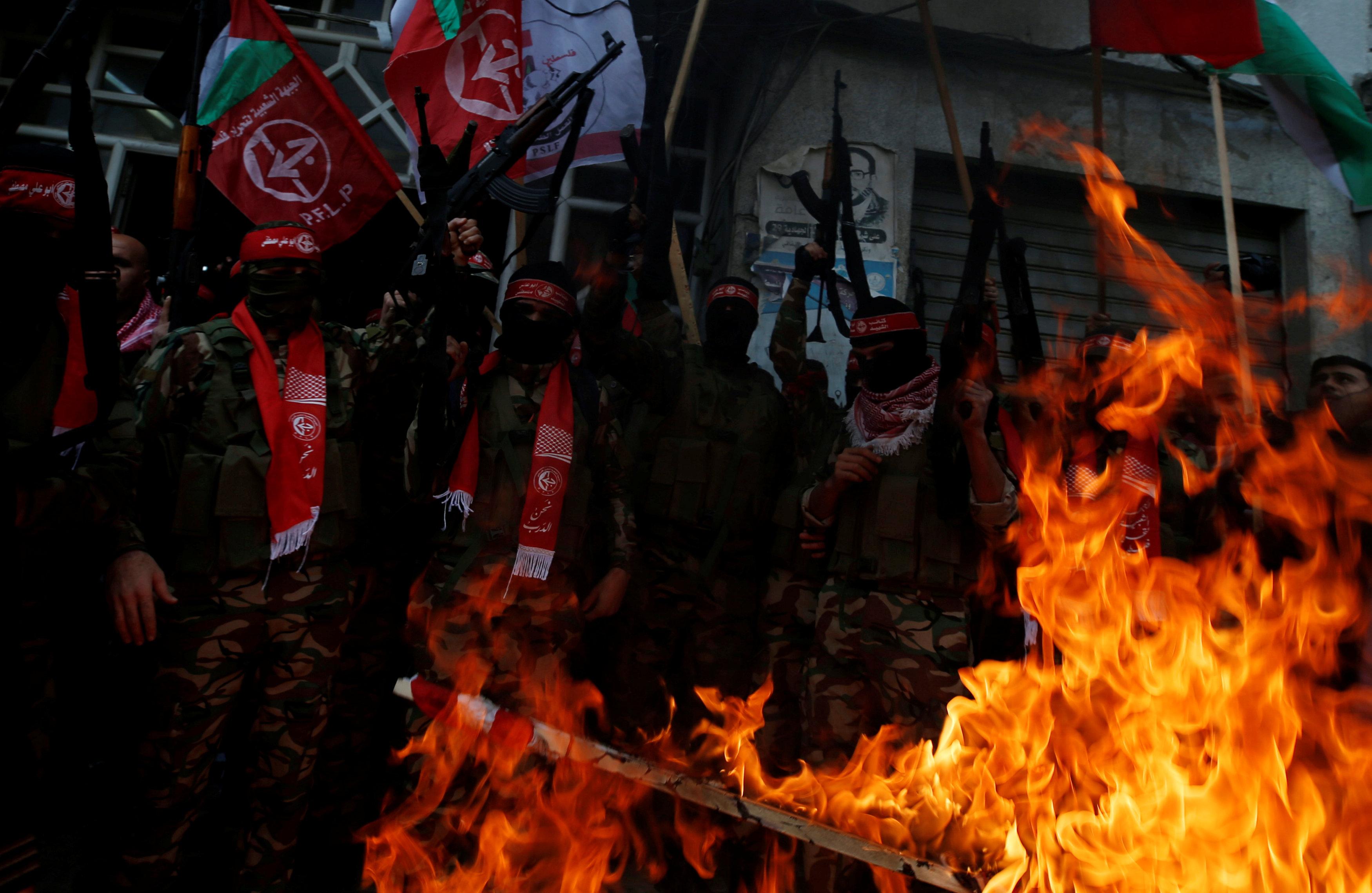 Militantes del Frente Popular de Liberación Palestina en la Franja de Gaza (Reuters)