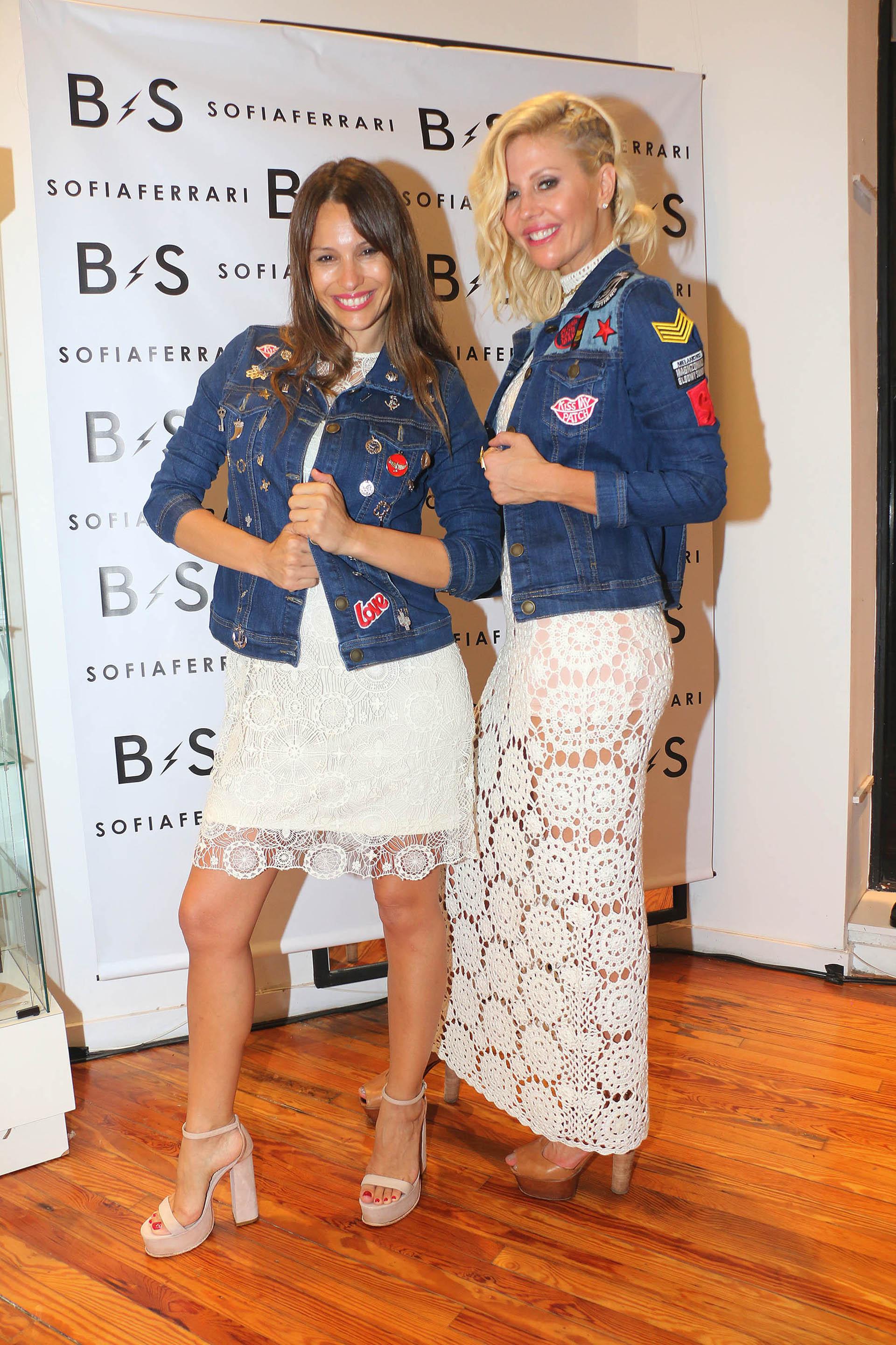 Barbie Simons lanzó su marca de camperas y carteras. Pampita acompañó a su amiga en este nuevo emprendimiento empresarial (Vero Guerman)