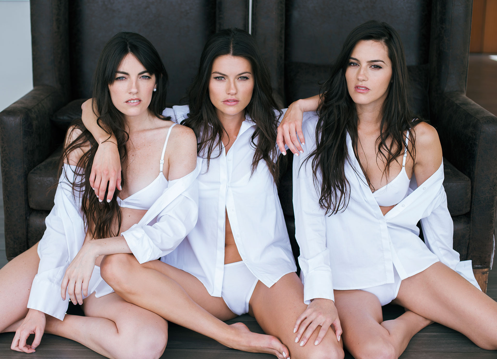 Las hemanas Giménez: Inés, Sofía y Pilar. Foto: Anita Thomas