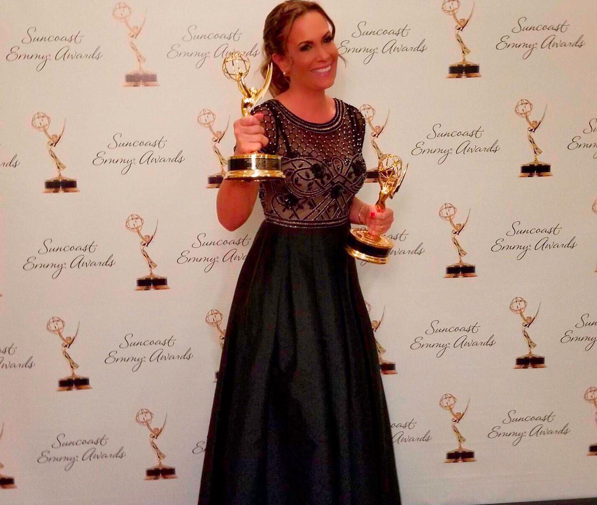 Natalia Denegri tuvo su noche mágica al ganar dos premios Emmy