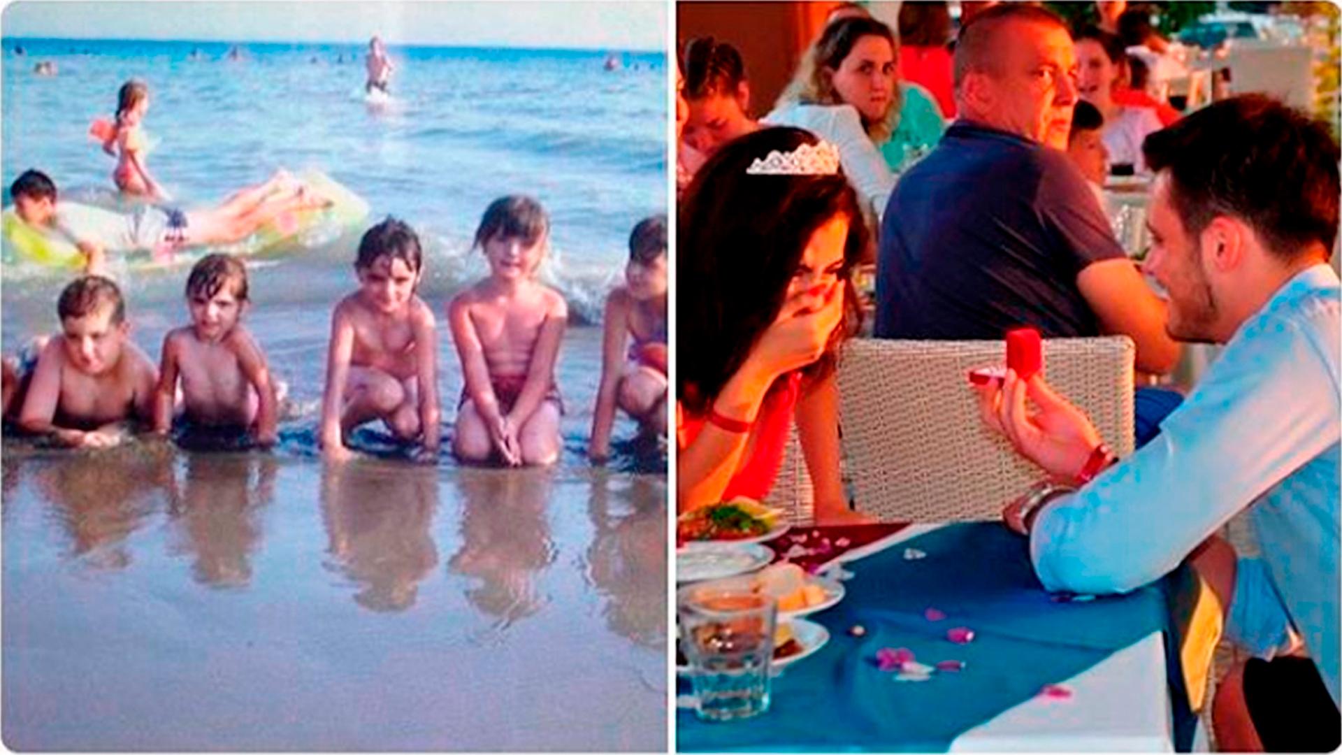 La foto de unas vacaciones familiares en Montenegro escondía un secreto (@veronavanity)