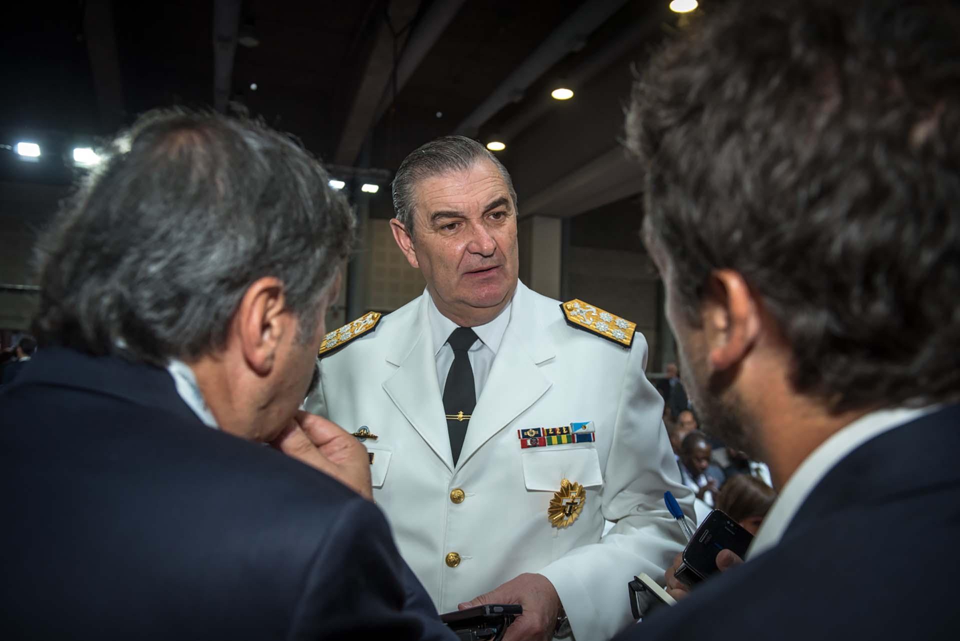 El Jefe del Estado Mayor de la Armada Argentina, almirante Marcelo Srur