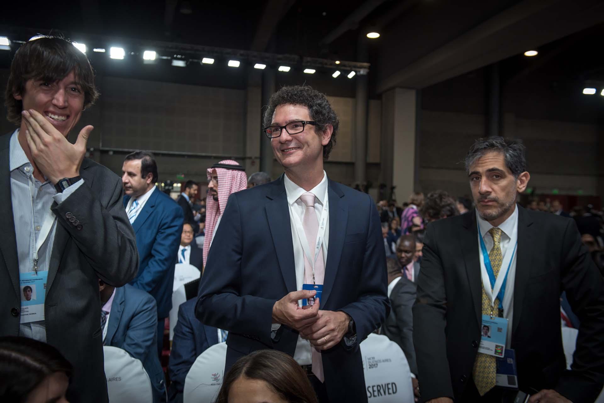 En el centro, Mariano Mayer, secretario de Emprendedores y Pymes de la Nación