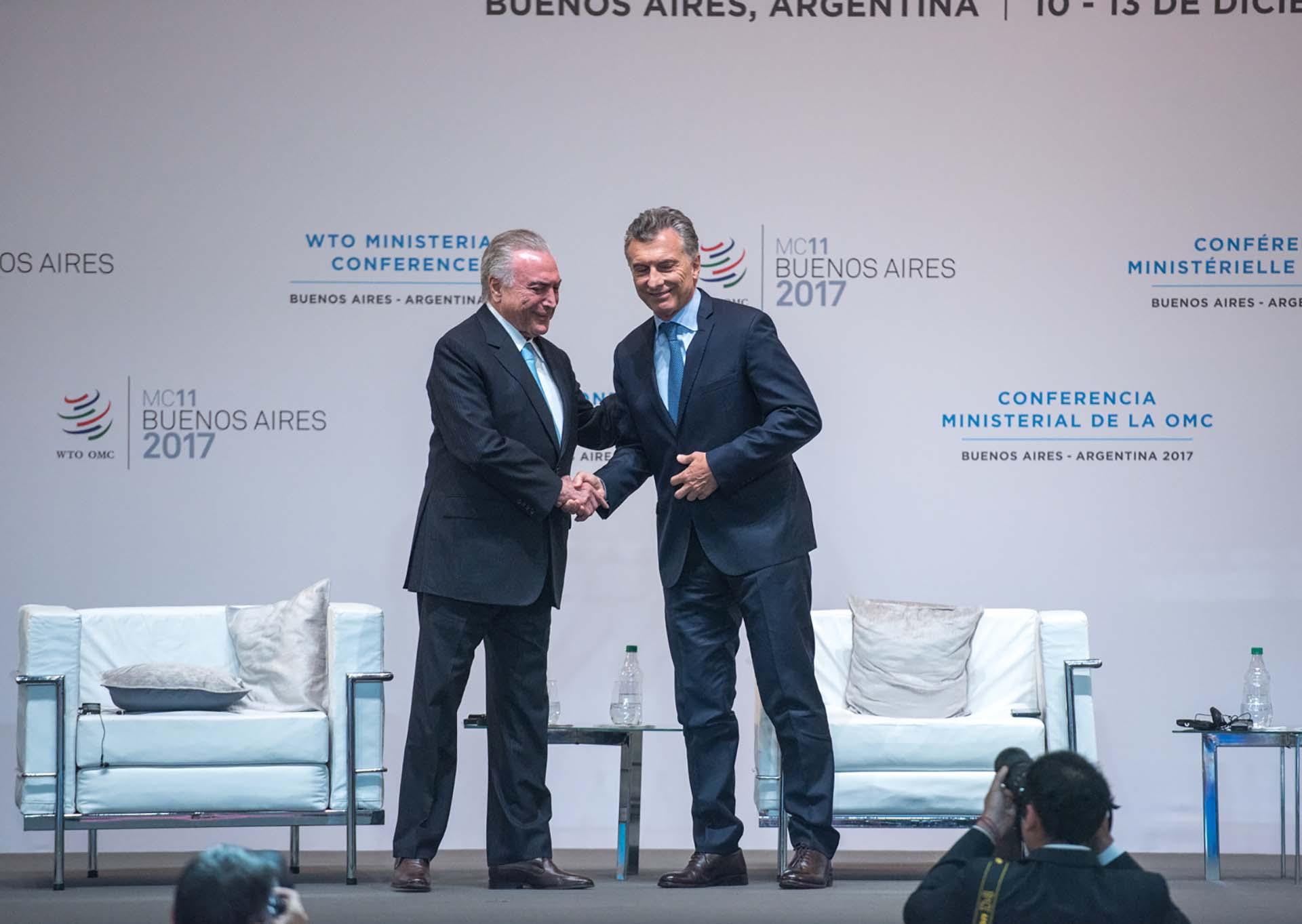 Mauricio Macri y Michel Temer