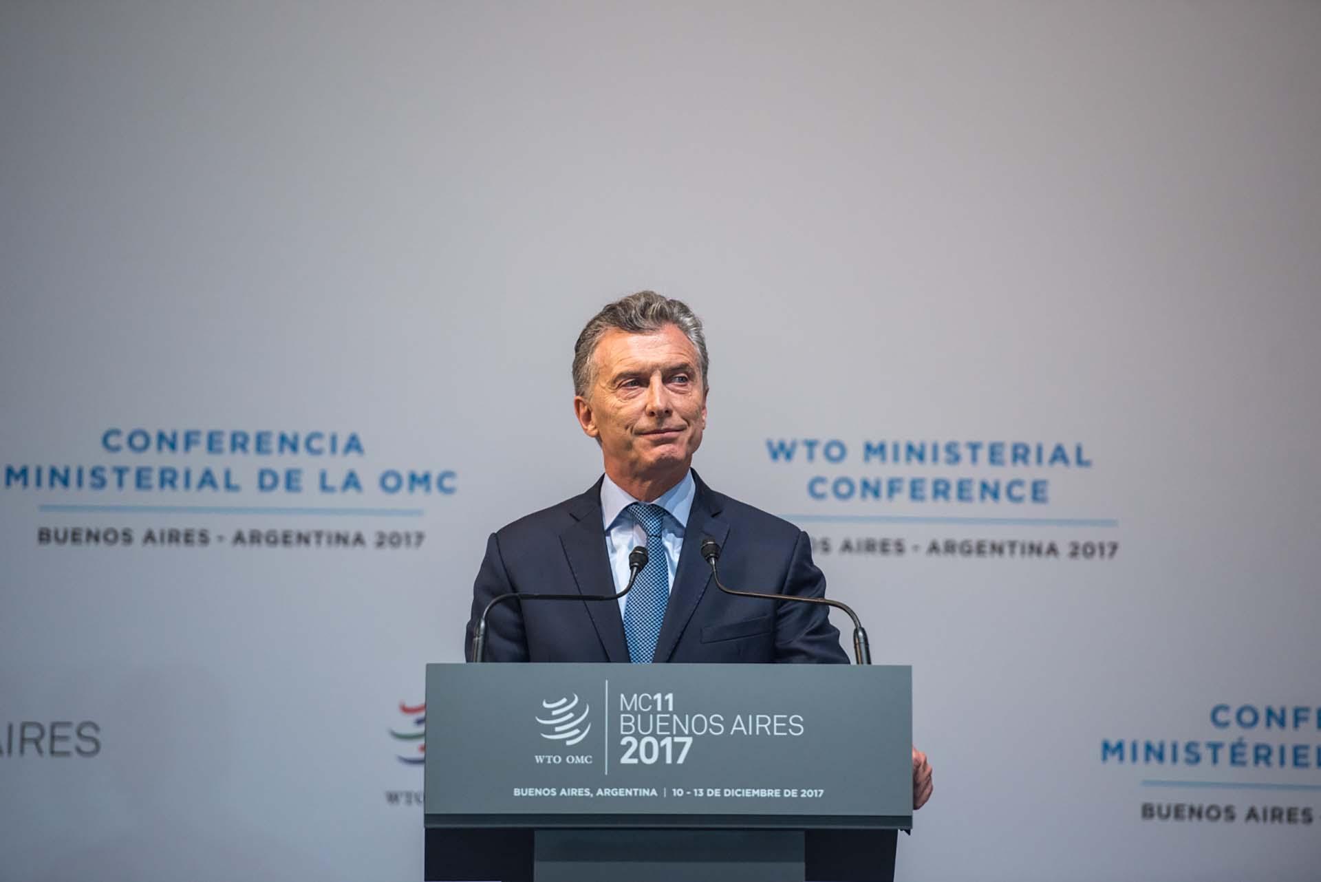 Mauricio Macri encabezó la apertura de la XI Conferencia Ministerial de la Organización Mundial del Comercio