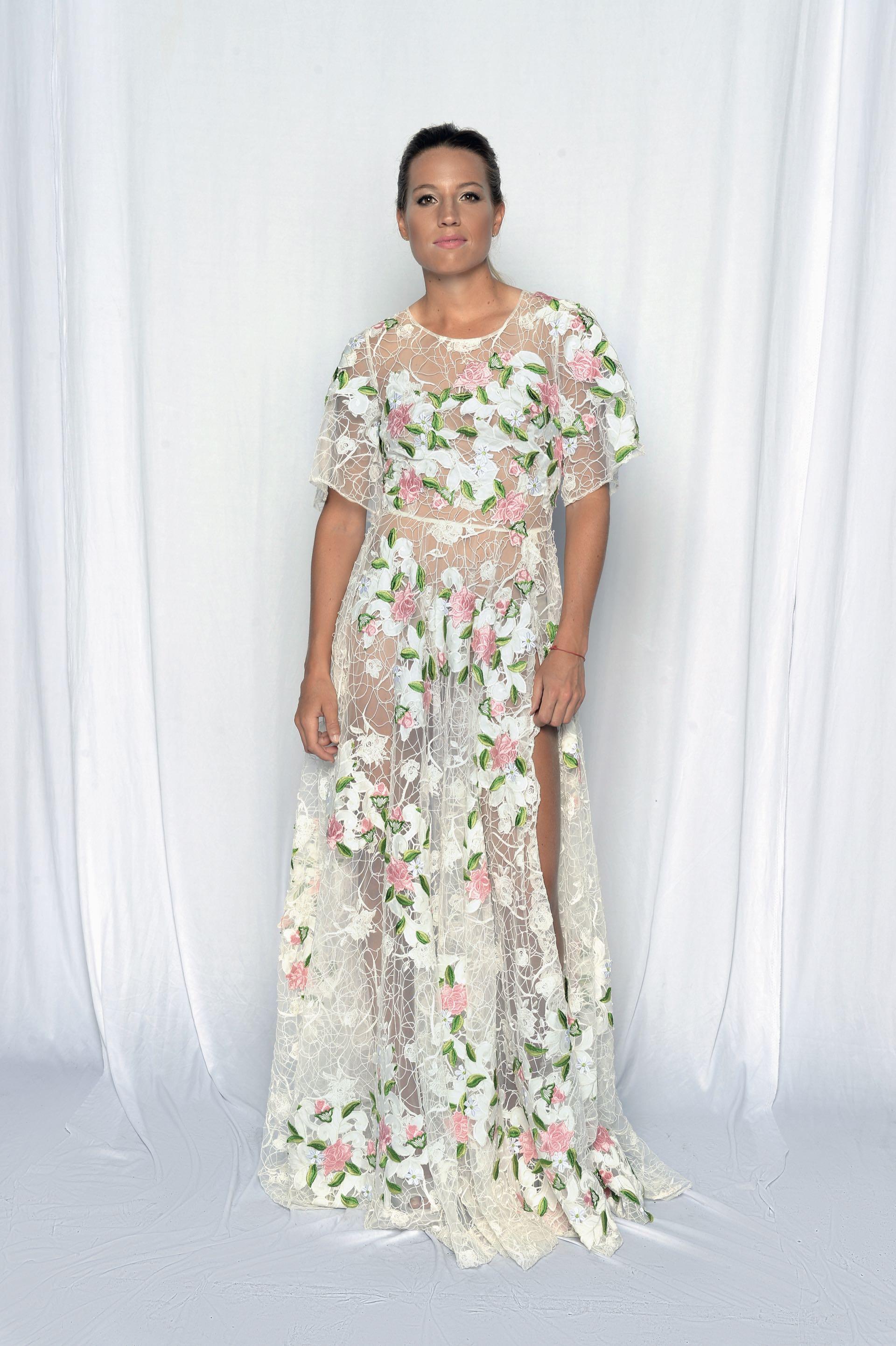 Delfina Merino, total look by Antonia Italian Couture. Foto: Diego García/GENTE