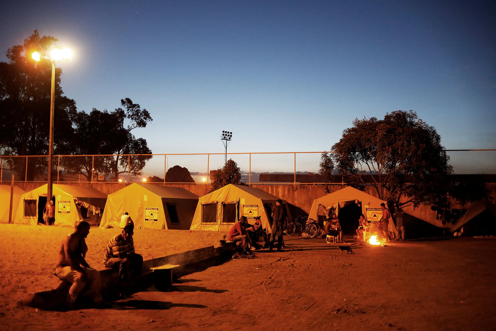 Los campamentos en Boa Vista están llenos de venezolanos (REUTERS)