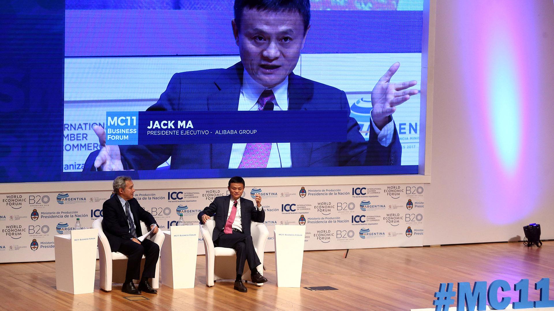 Jack Ma, el presidente de Alibaba, siendo entrevistado el año pasado en su visita a Buenos Aires