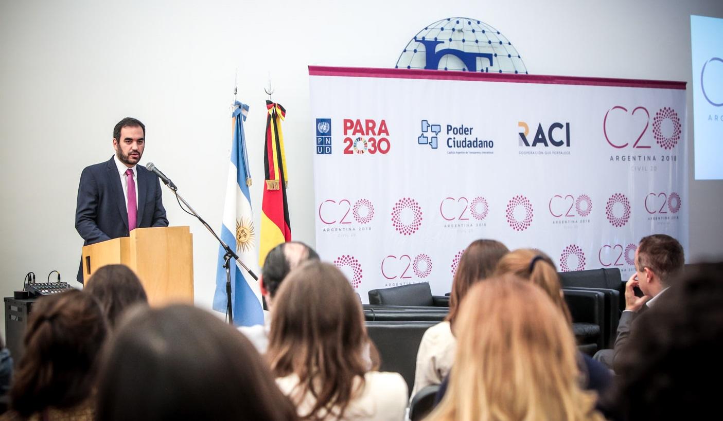 Pablo Secchi, chair del C20 2018. (Gentileza C20)