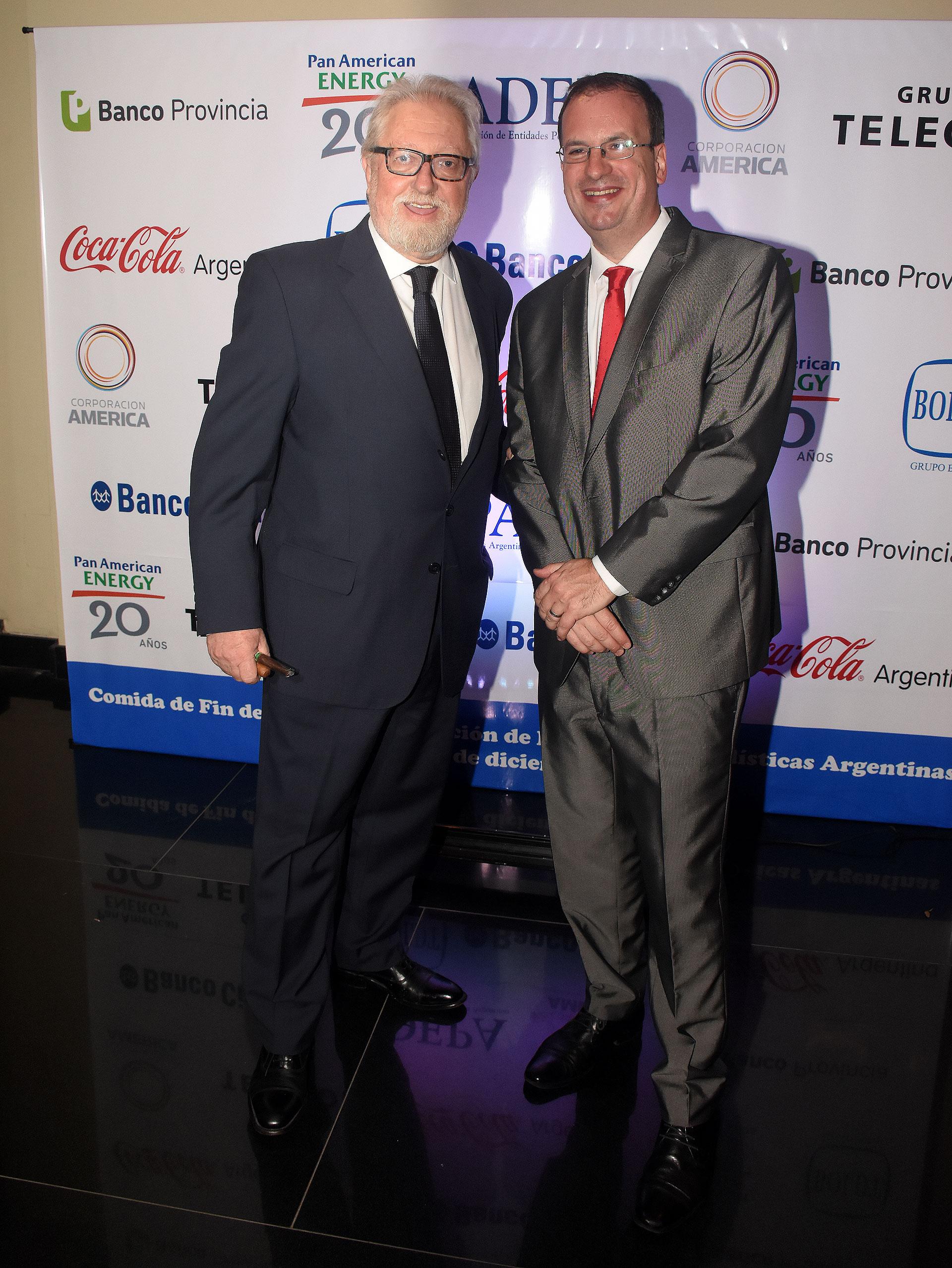 Juan Boglione (diario Nueva Rioja) y Andrés D'Alessandro, director ejecutivo de ADEPA