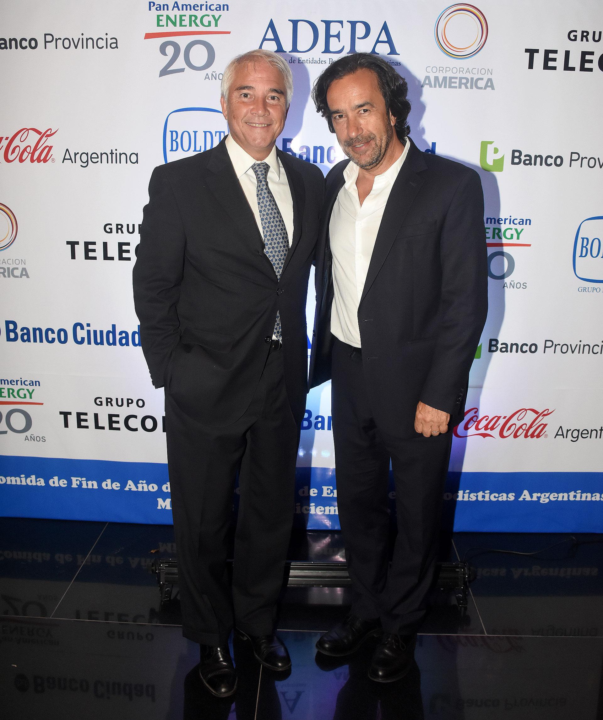 Pablo Deluca, director de Asuntos Institucionales de Infobae, y el secretario de Medios de la provincia de Buenos Aires, Mariano Mohadeb