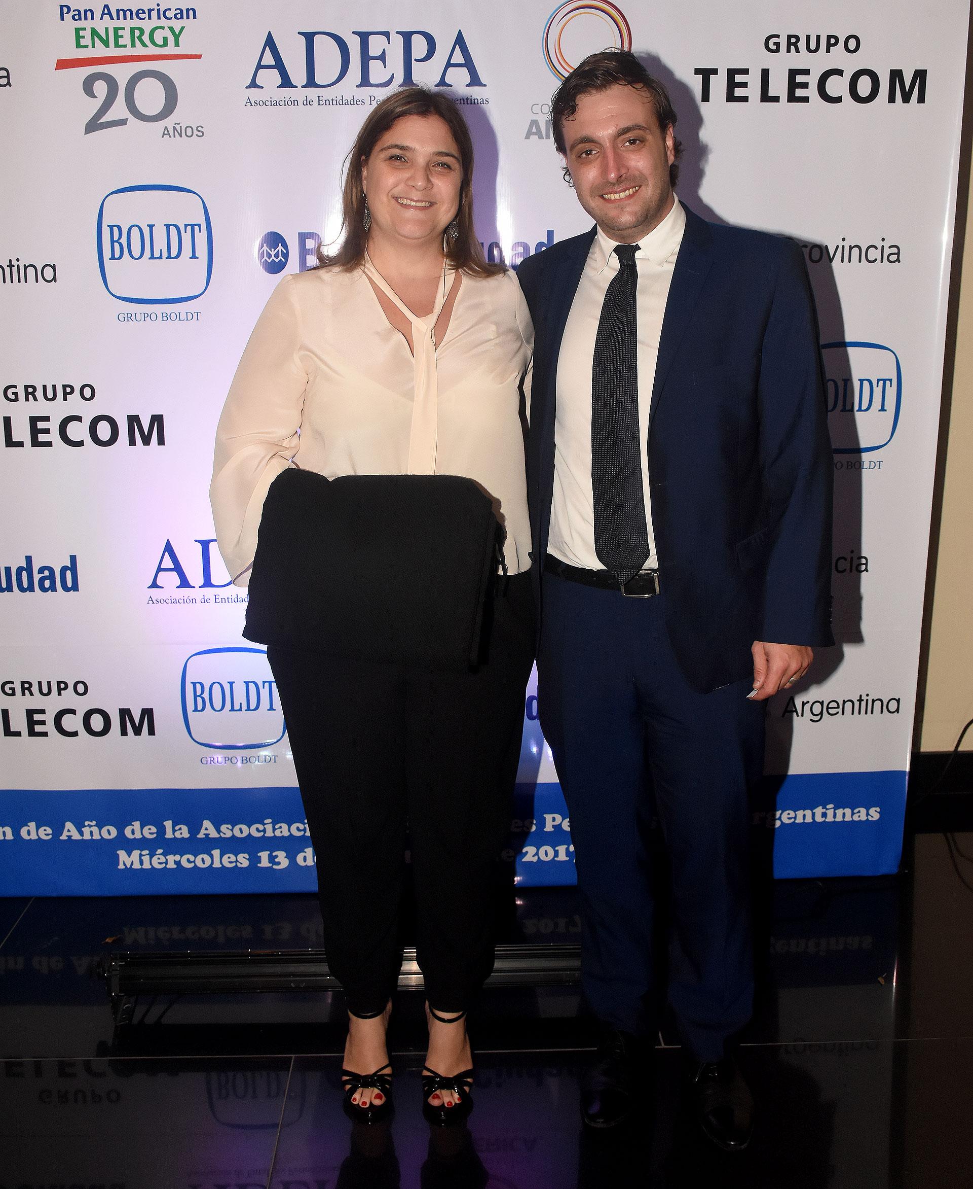 Marcela Noble Herrera y Ezequiel Magnetto (Grupo Clarín)