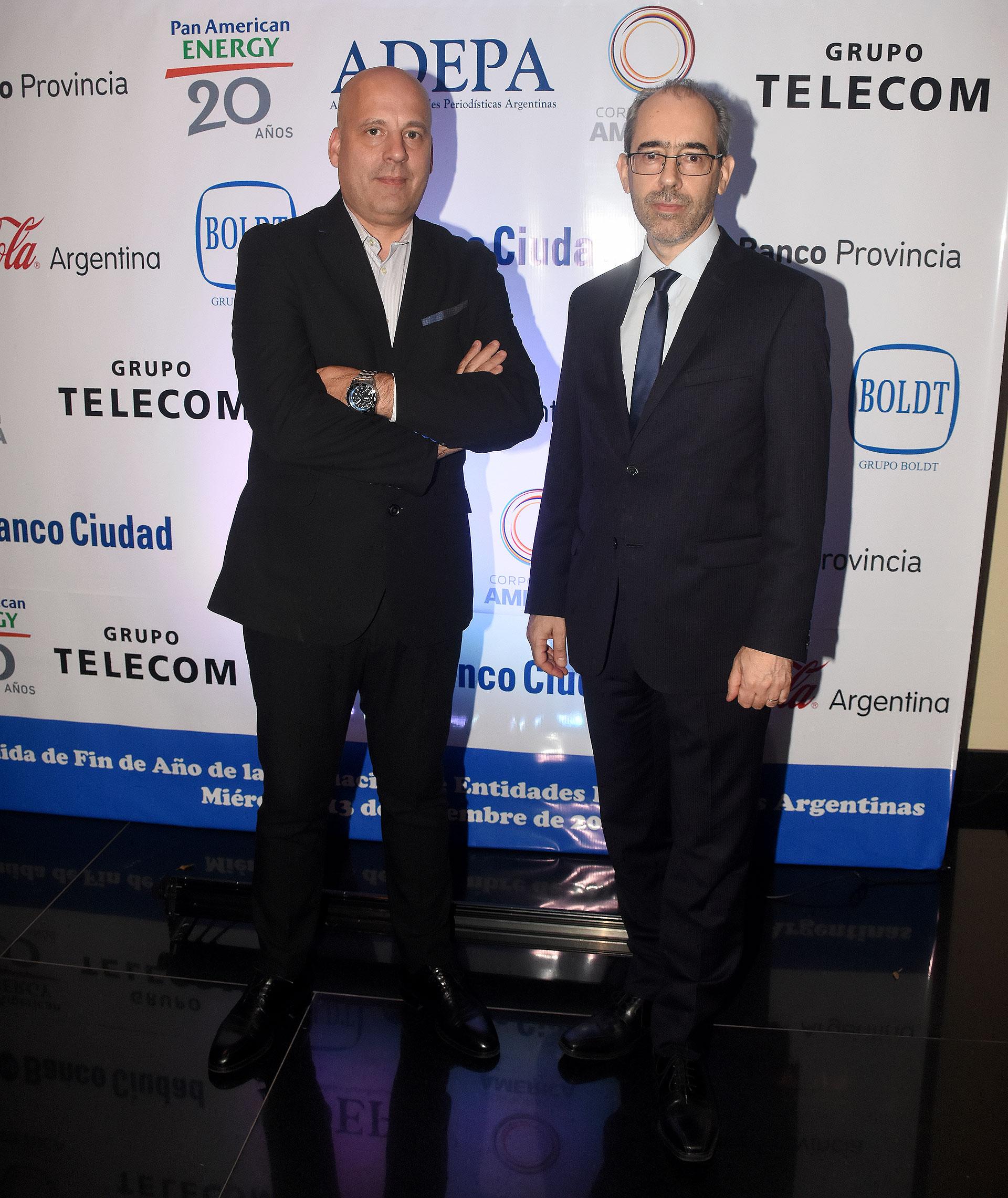 Gustavo Bruno, presidente de la Asociación Argentina de Editores de Revistas (AAER), y Gustavo González (Editorial Perfil)
