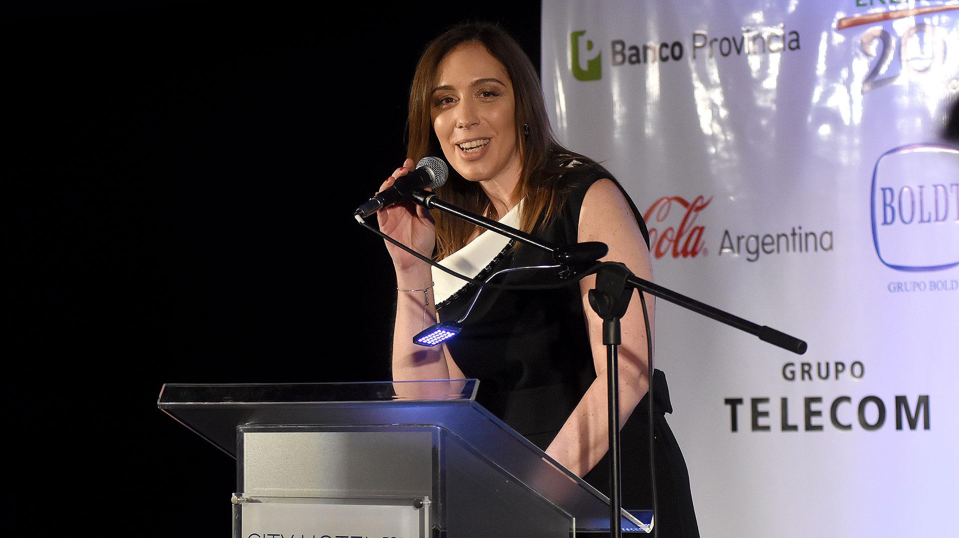 El discurso de la gobernadora de la provincia de Buenos Aires, María Eugenia Vidal
