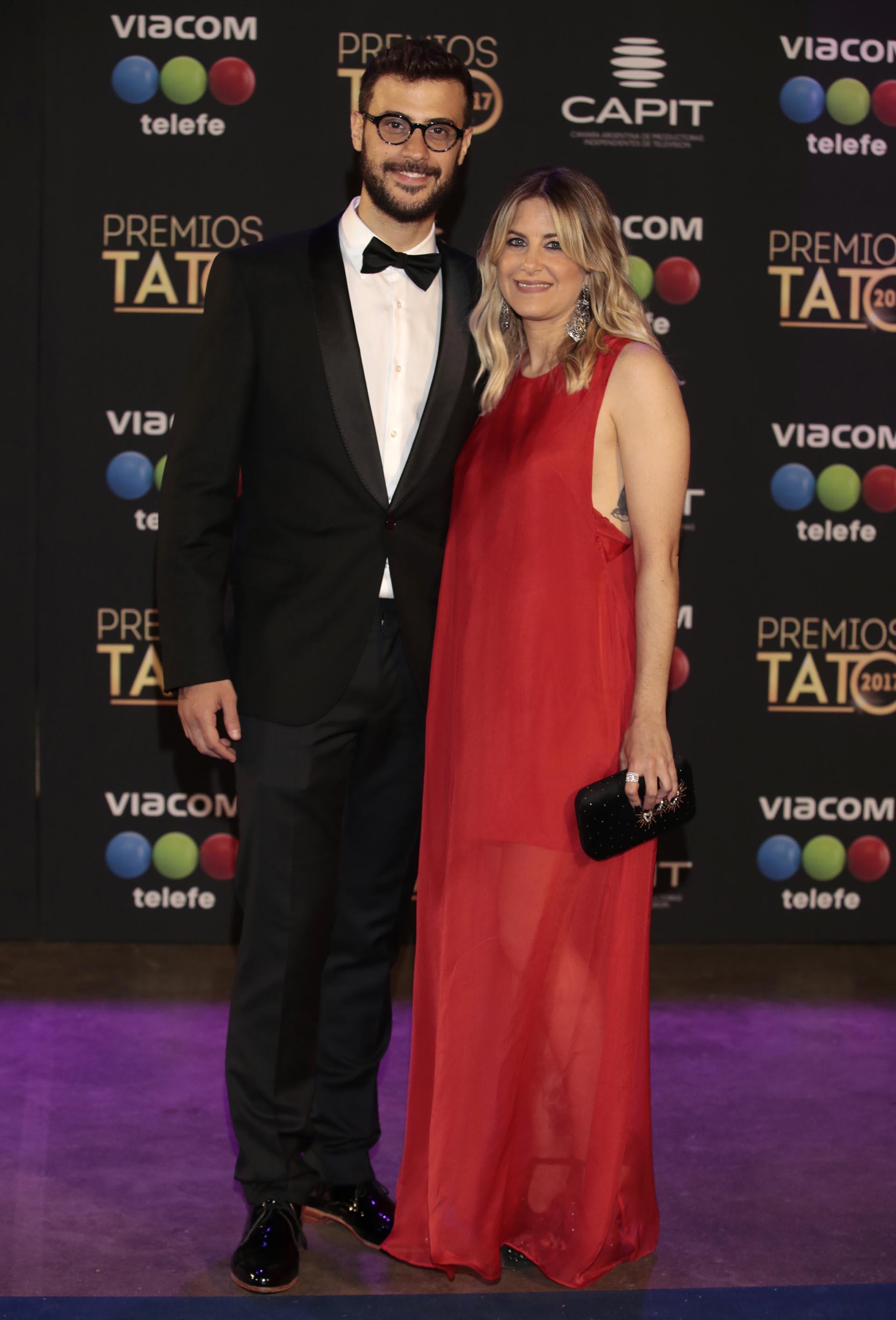 Diego Leuco con su novia
