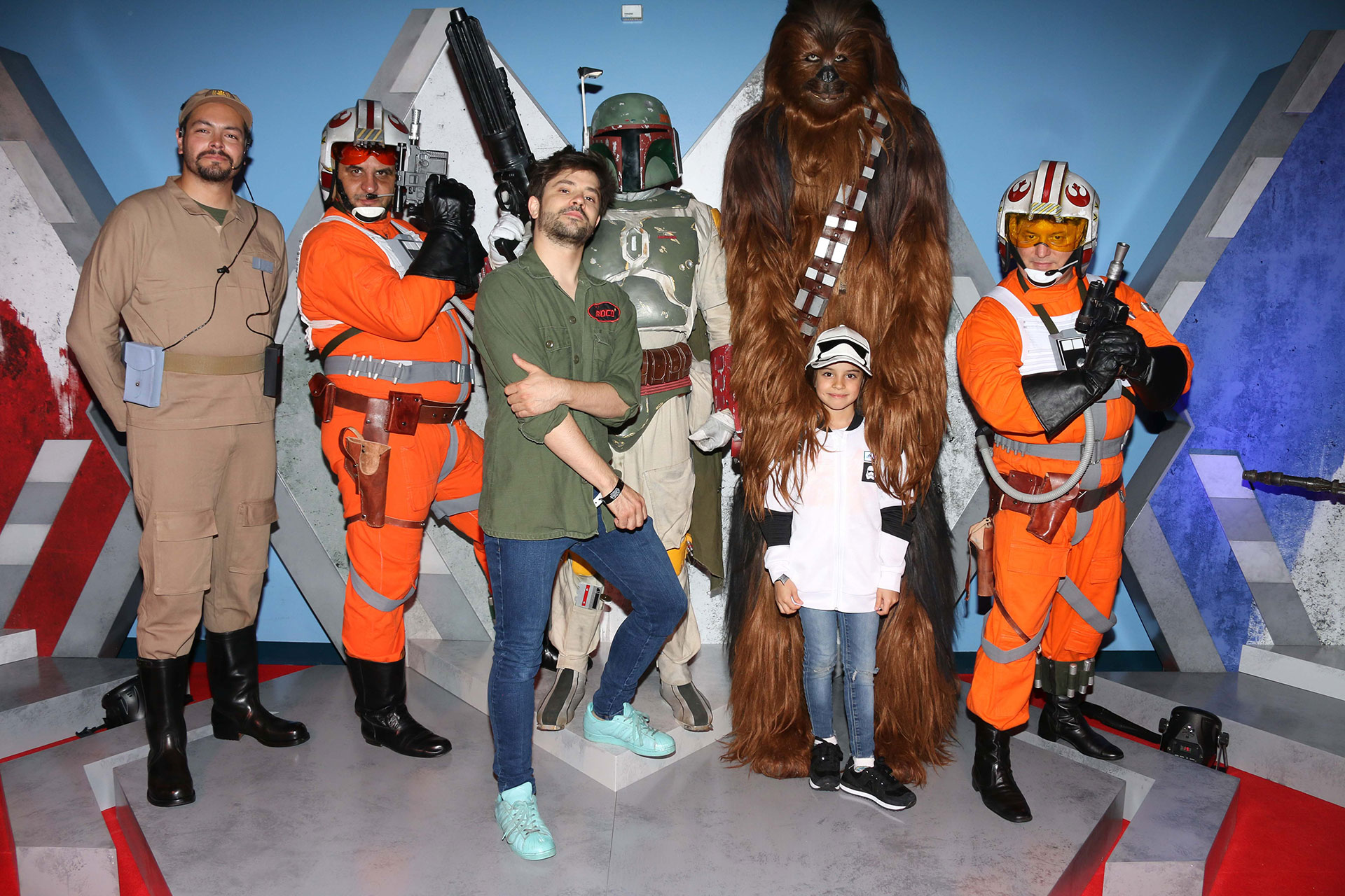 Felipe Colombo y su hija Foto: Gentileza Disney