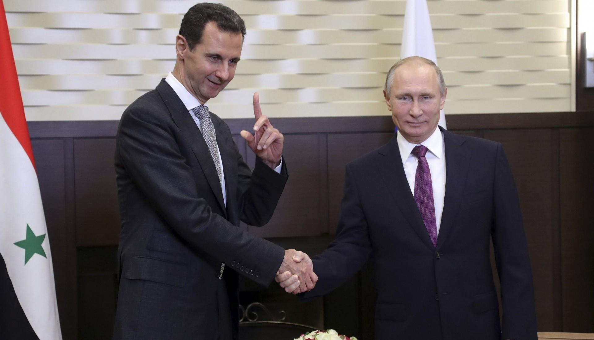 El dictador sirio Bashar al Assad y el presidente de Rusia, Vladimir Putin (Reuters)