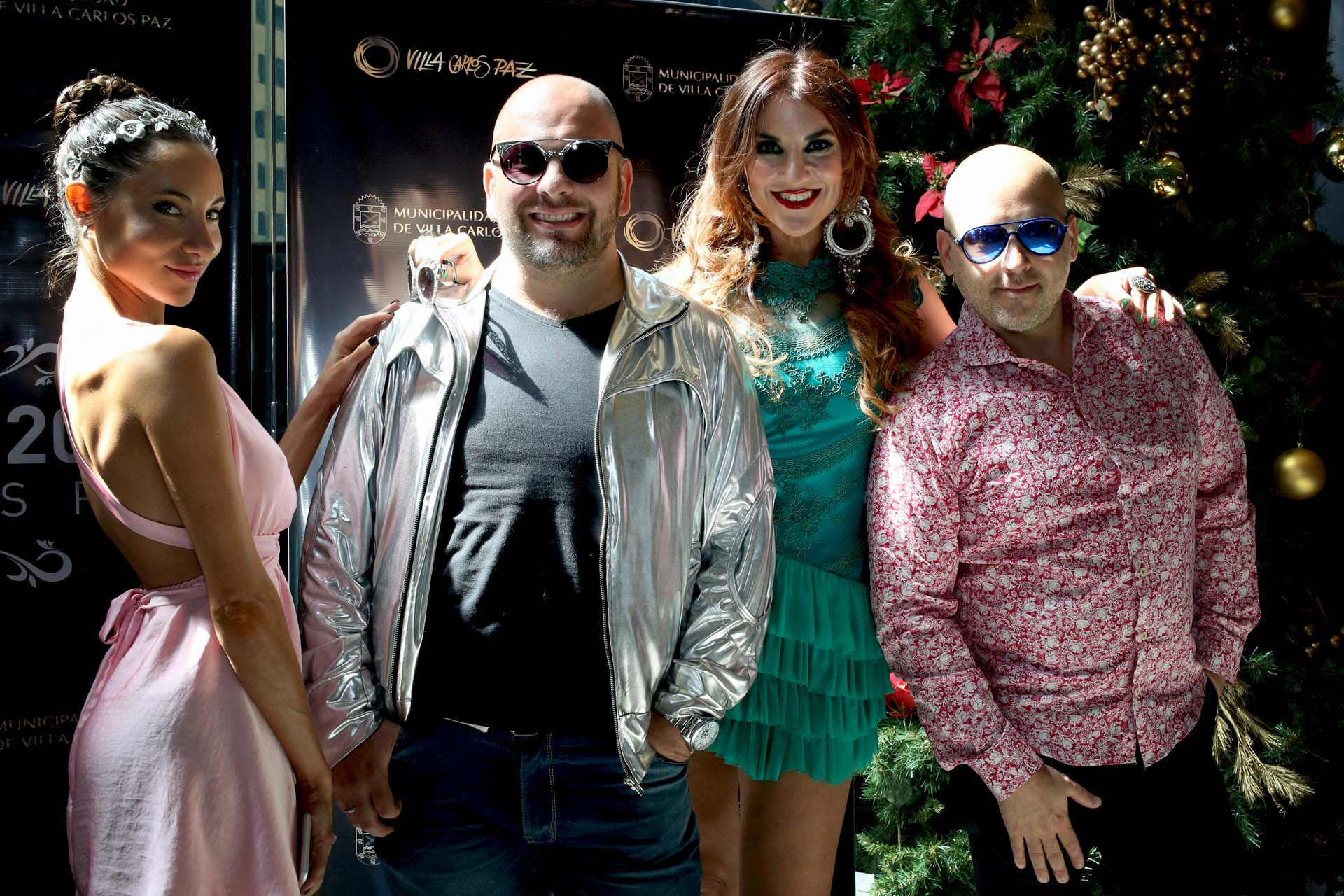 """José María Muscari, Ana Belén Beas, Diego Martín Rinaldi y Magui Bravi, de la obra """"Bollywood"""""""