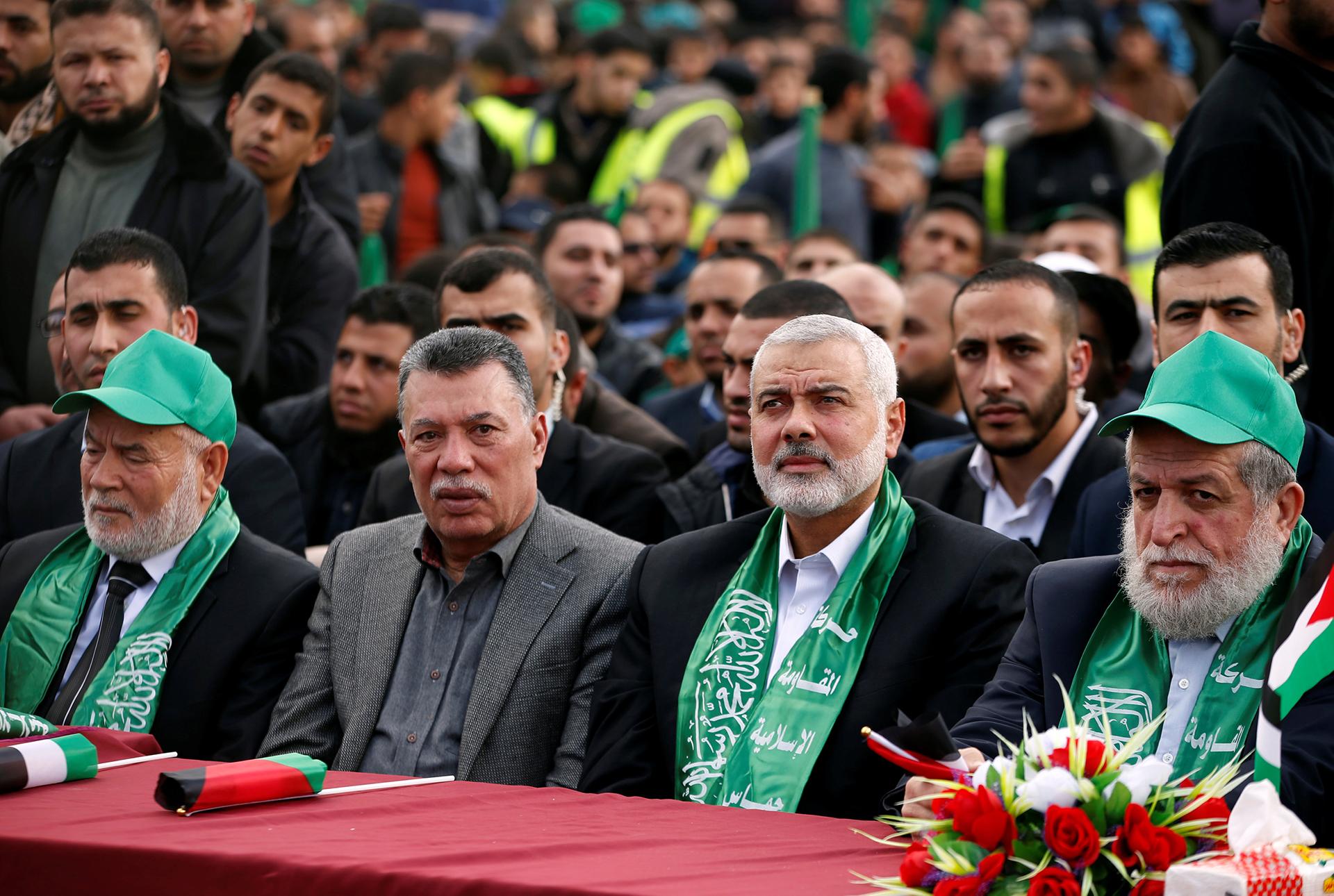 Haniyeh observa el desfile(Reuters)