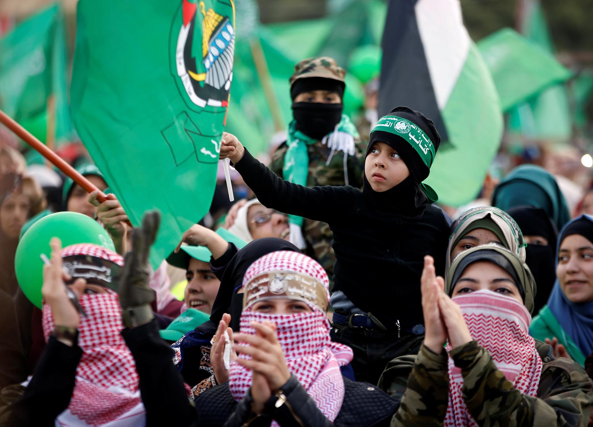 Es usual que Hamas traiga niños a sus eventos políticos (Reuters)