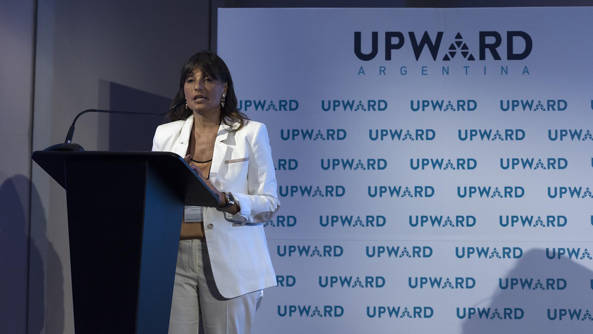 """Viviana Zocco """"Estoy muy contenta. Llegamos al primer año de UPWARD Argentina y cumplimos nuestros objetivos"""", aseguró Zocco. En ese sentido, resaltó que """"debemos compartir lo que nos pasa con los hombres"""""""