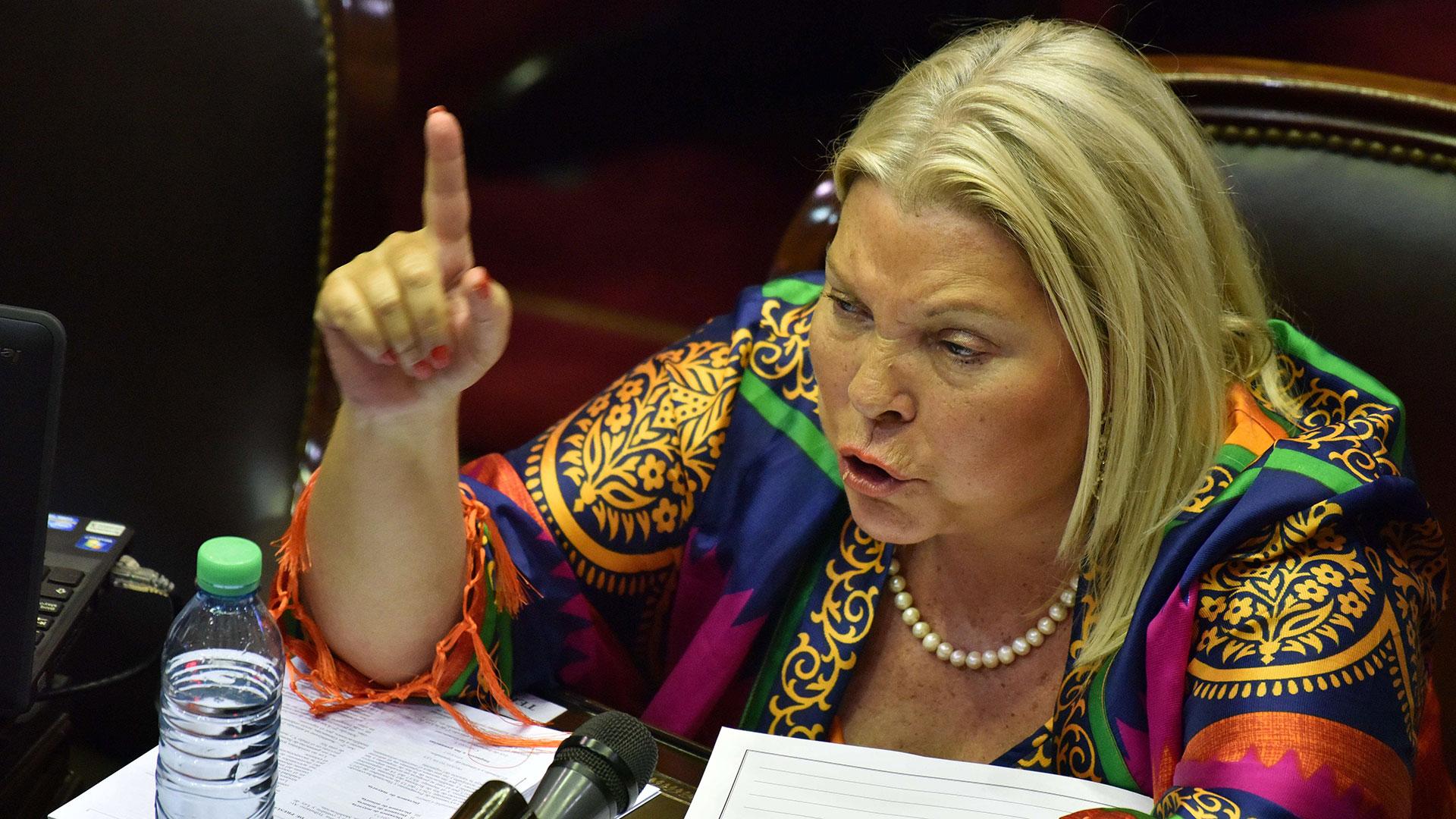 Elisa Carrió fue la encargada de pedir que se levante la sesión (Amilcar Orfali)