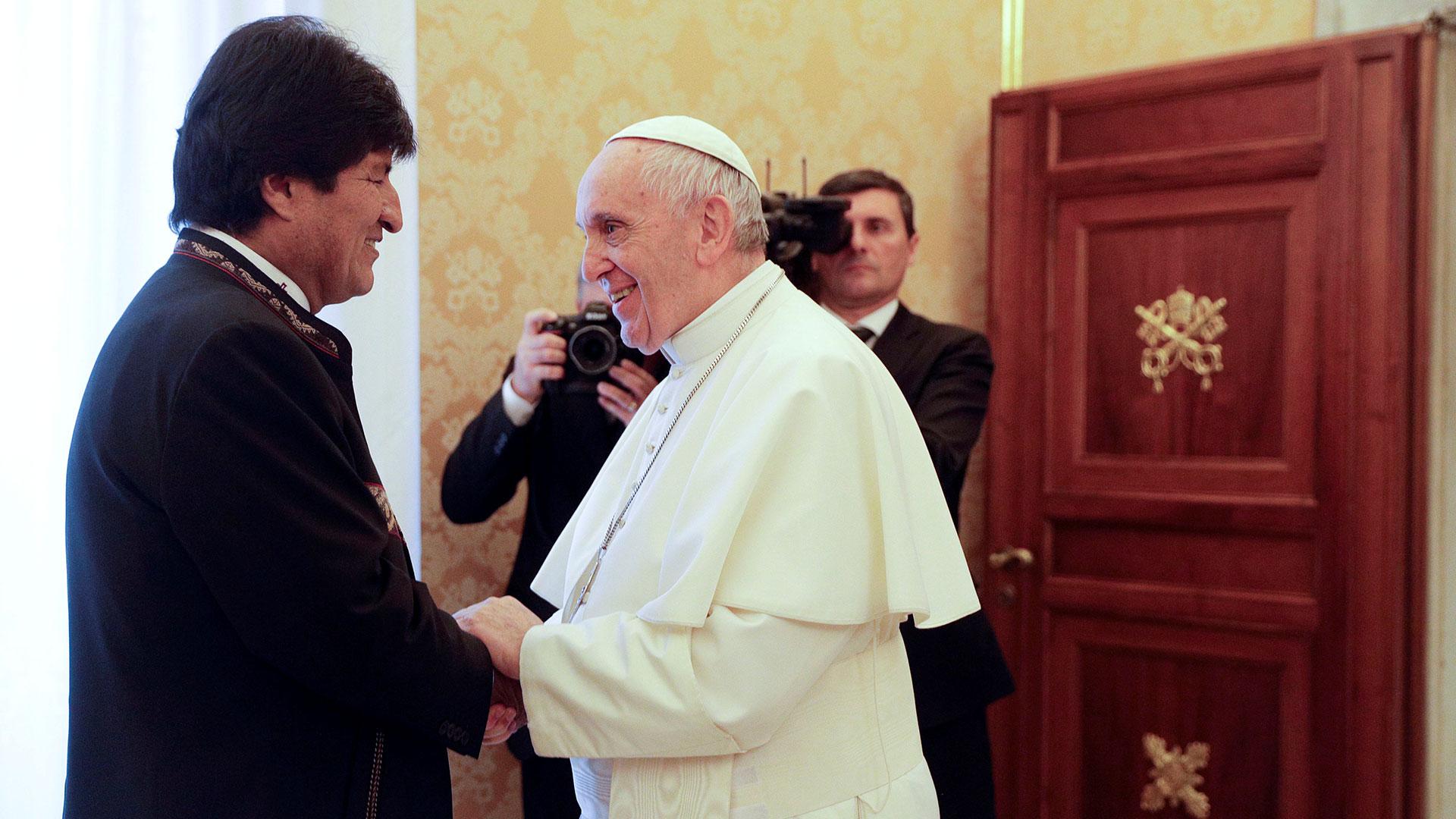 15 de diciembre de 2017. El papa Francisco recibió por quinta vez a Evo Morales en el Vaticano